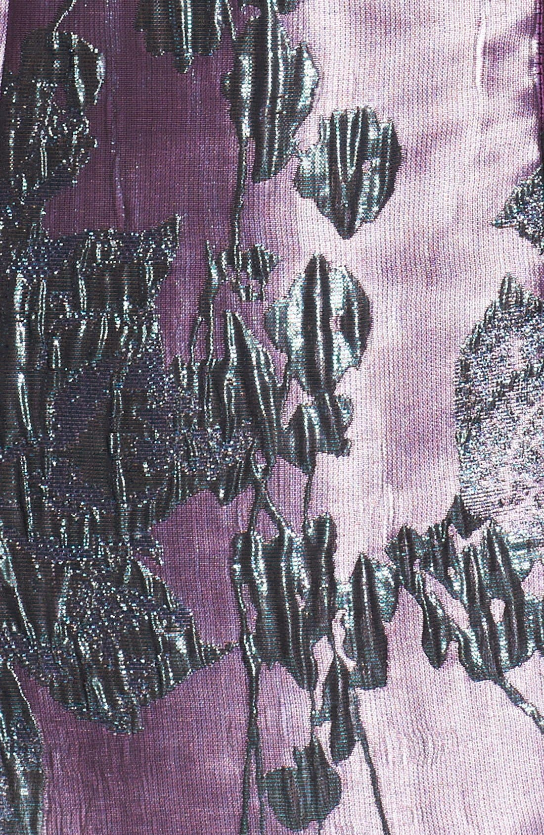 Alternate Image 4  - Adrianna Papell Metallic Jacquard Fit & Flare Dress (Regular & Petite)