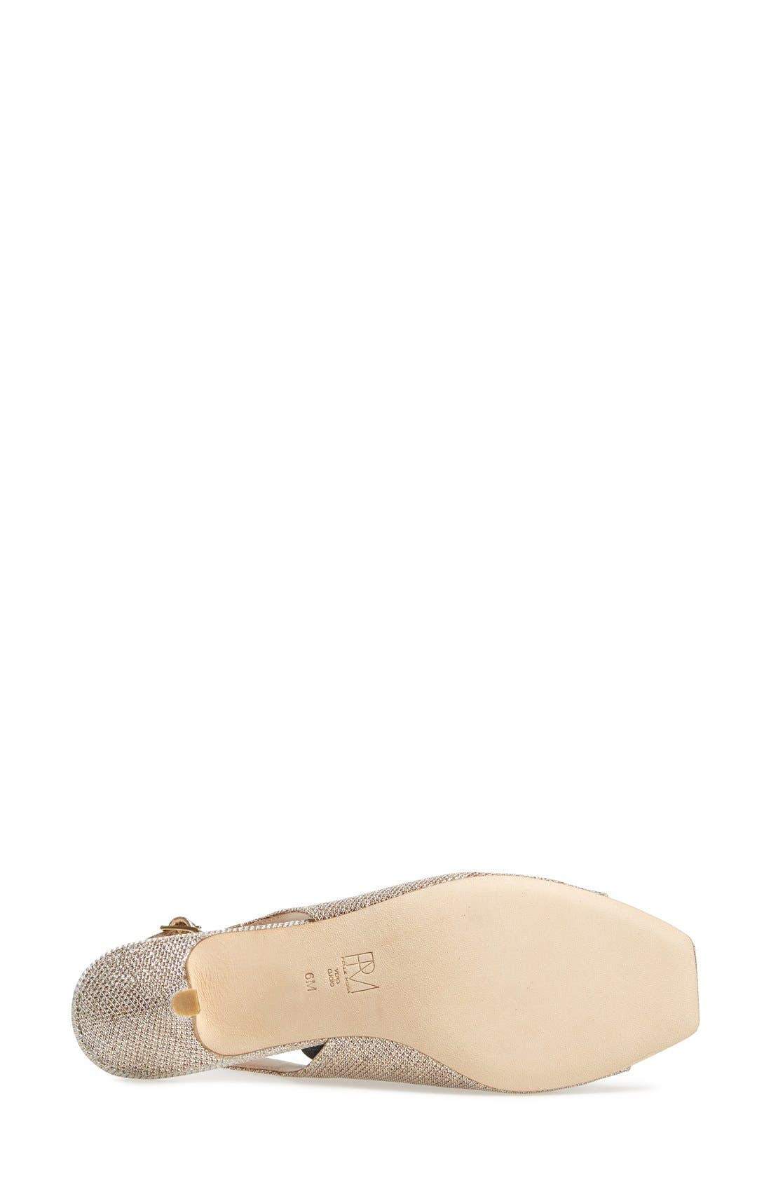 Alternate Image 4  - Pelle Moda 'Fresh' Jeweled Metallic Leather Slingback Sandal (Women)