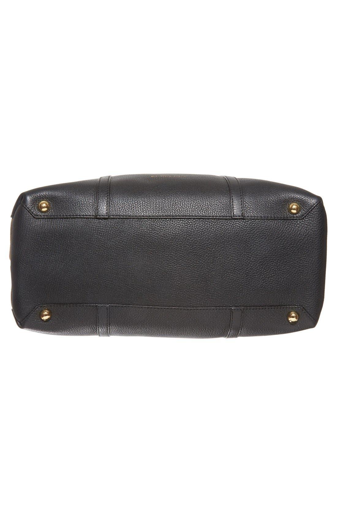 'Mason - House Check' Diaper Bag,                             Alternate thumbnail 6, color,                             Black
