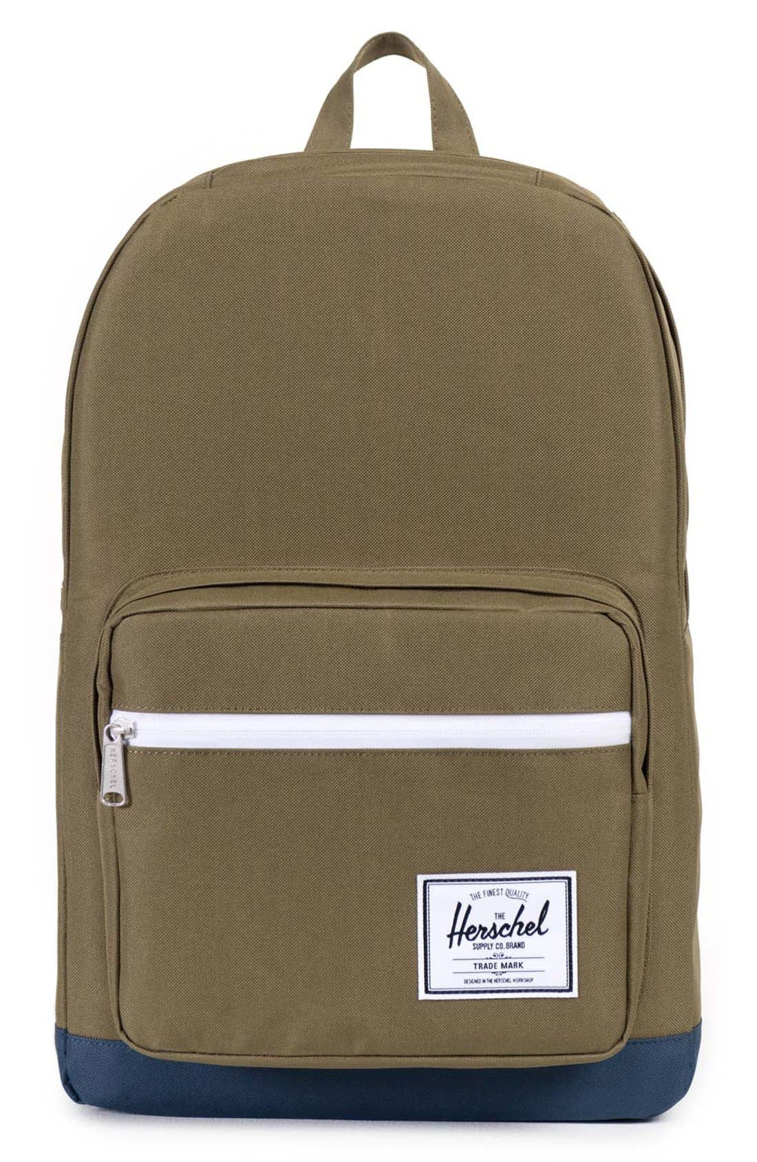 'Pop Quiz' Backpack,                         Main,                         color, Army/ Navy