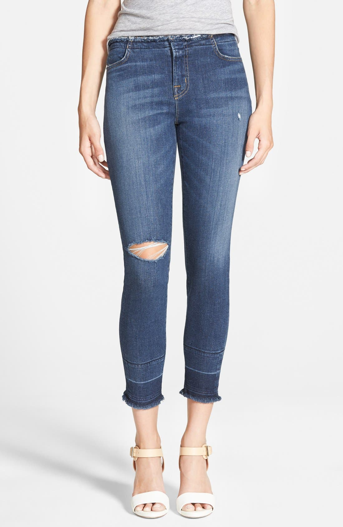 Alternate Image 1 Selected - J Brand Mid Rise Capri Jeans