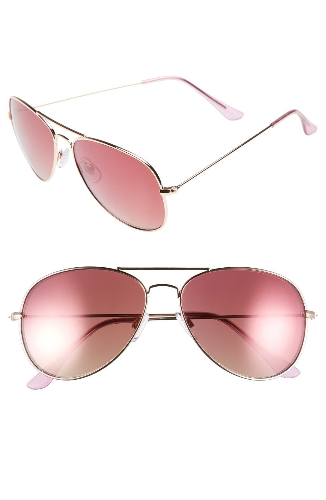 Main Image - Fantas Eyes 58mm Aviator Sunglasses (Juniors)