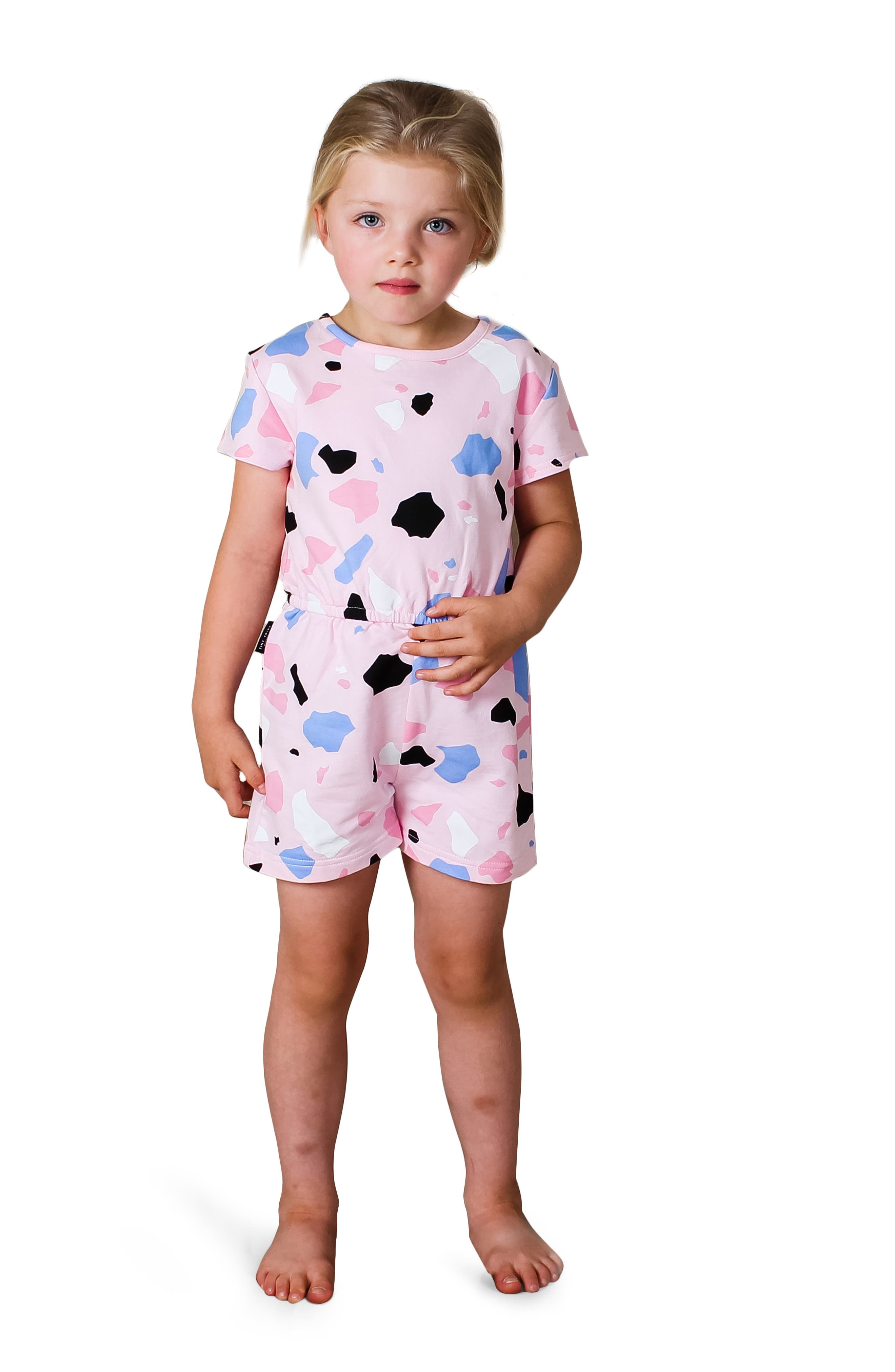 Janly Clearance Sale Girls Romper for 2-7 Years Old for 2-3 Years Old Little Kids Yellow Toddler Baby Girls Ruffled Sleeves Leopard Princess Playsuit Jumpsuits Clothes