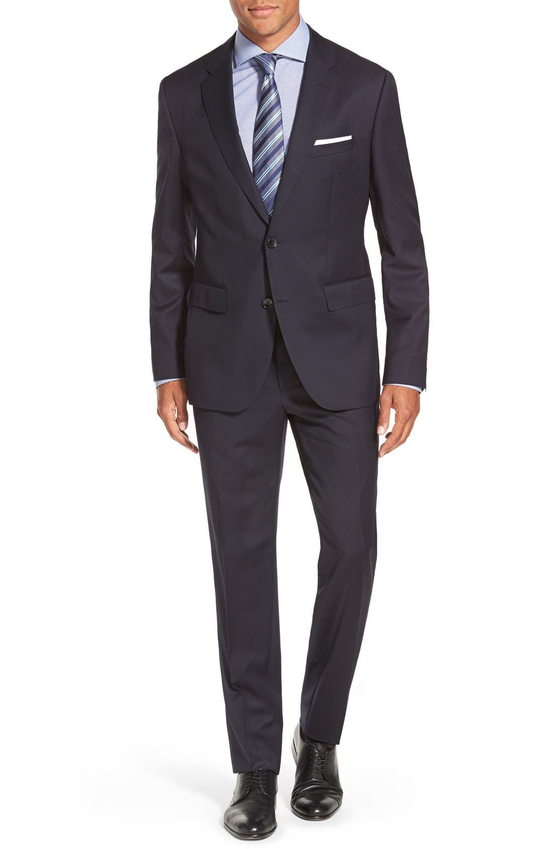 Johnstons/Lenon Classic Fit Wool Suit,                         Main,                         color, Navy