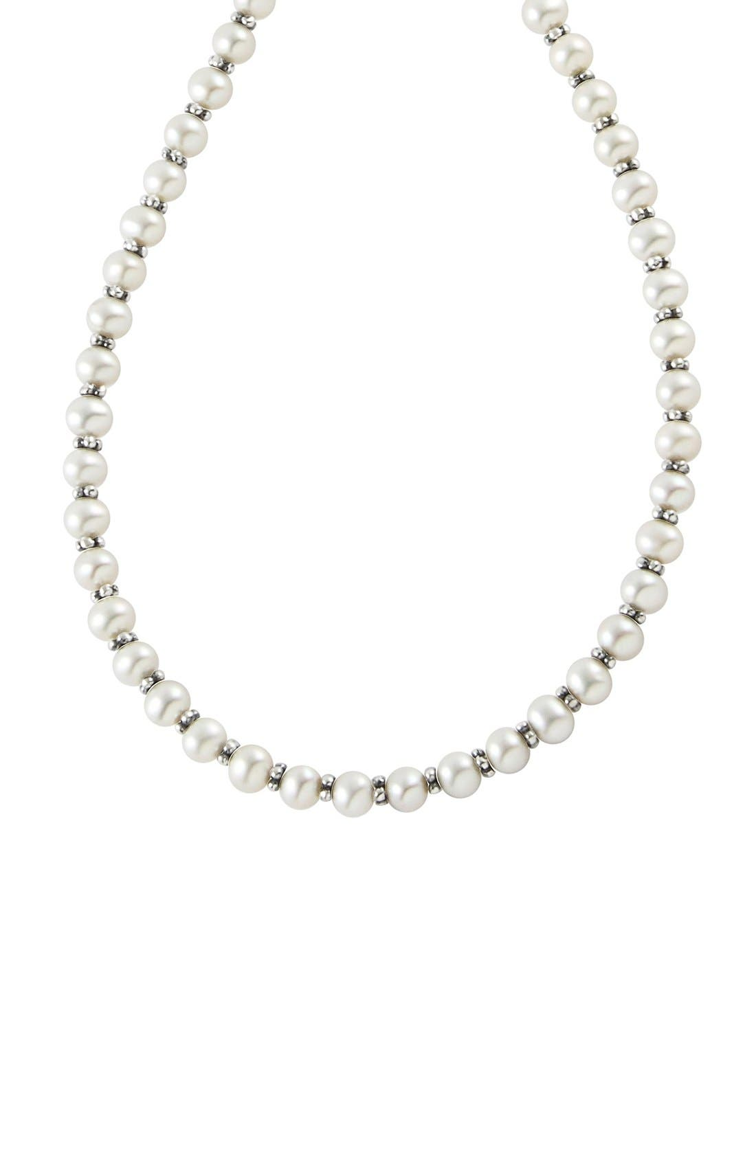 Alternate Image 2  - LAGOS 'Luna' Long Micro Bead & Pearl Necklace