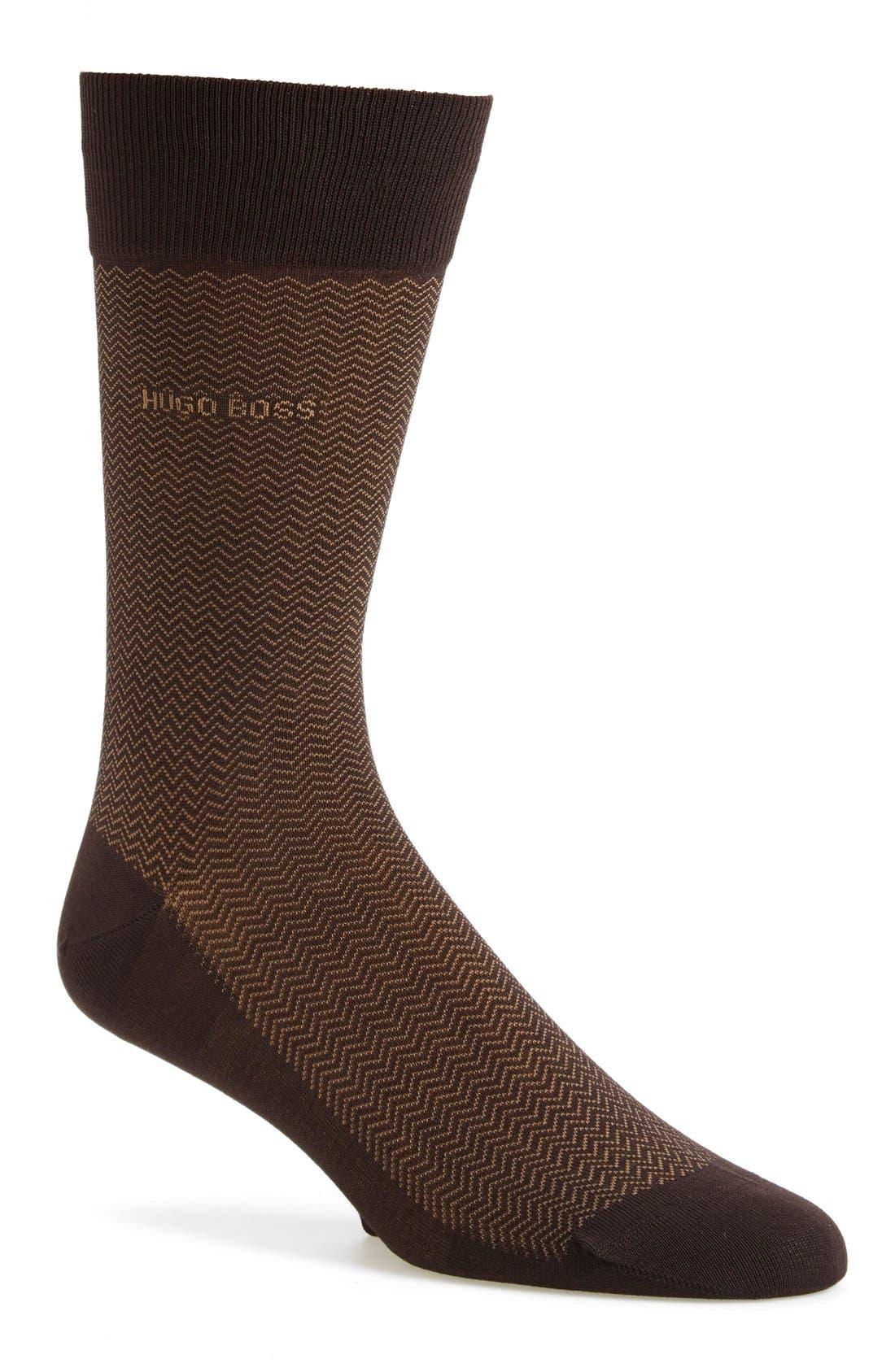 Alternate Image 1 Selected - BOSS 'David' Herringbone Socks