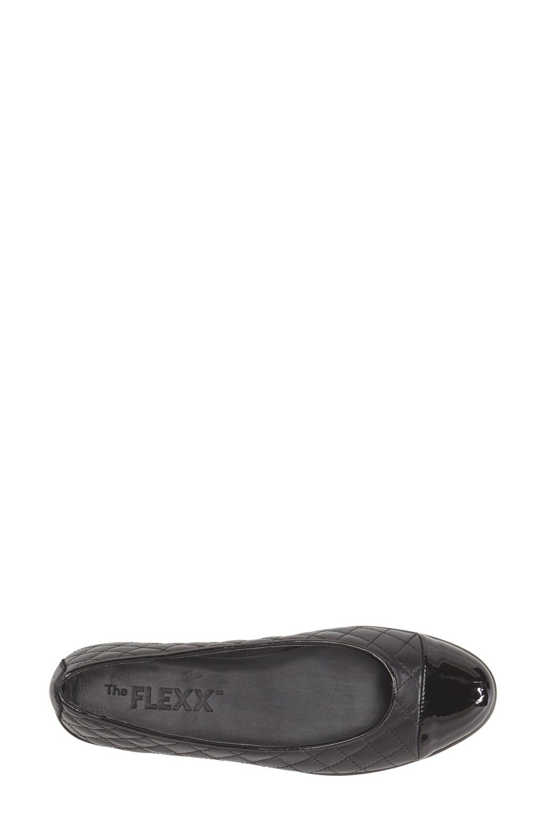 Alternate Image 3  - The FLEXX 'Rise a Smile' Quilted Leather Flat (Women)