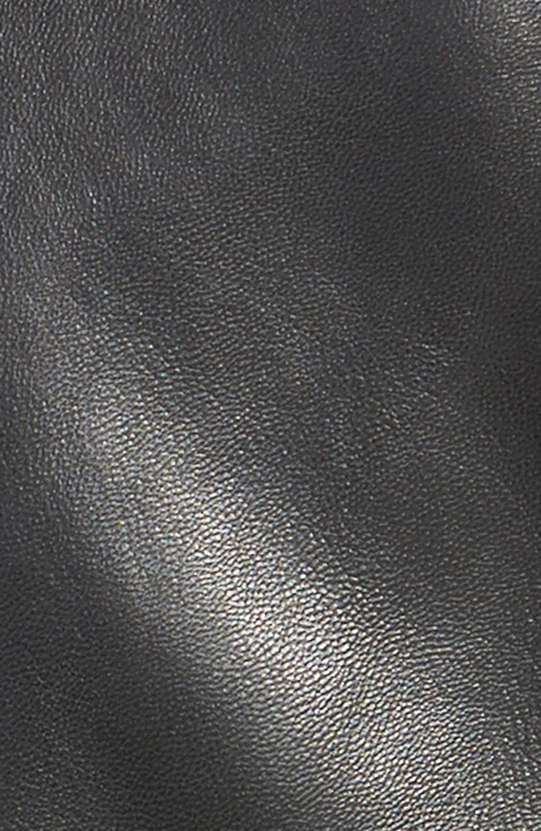 Alternate Image 3  - Halogen®SeamDetailLeather Jacket