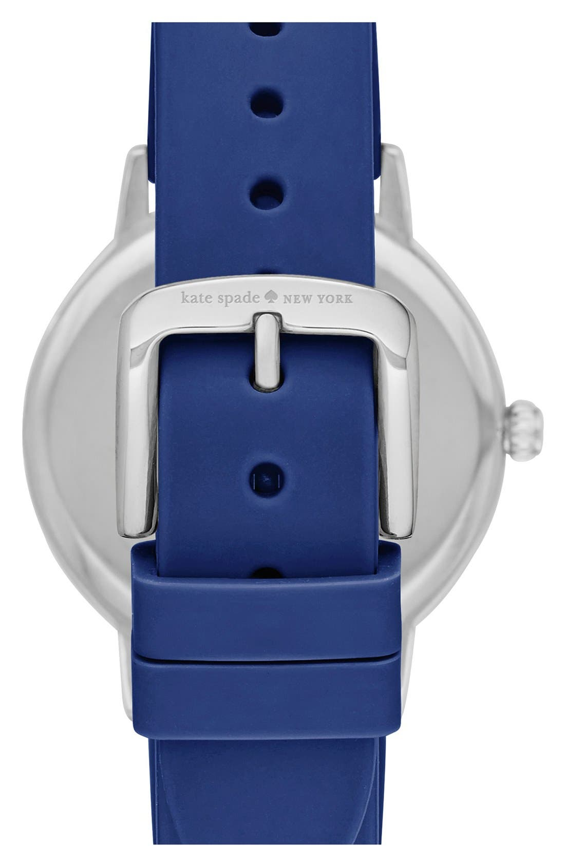 Alternate Image 2  - kate spade new york'crosby' silicone strap watch, 34mm
