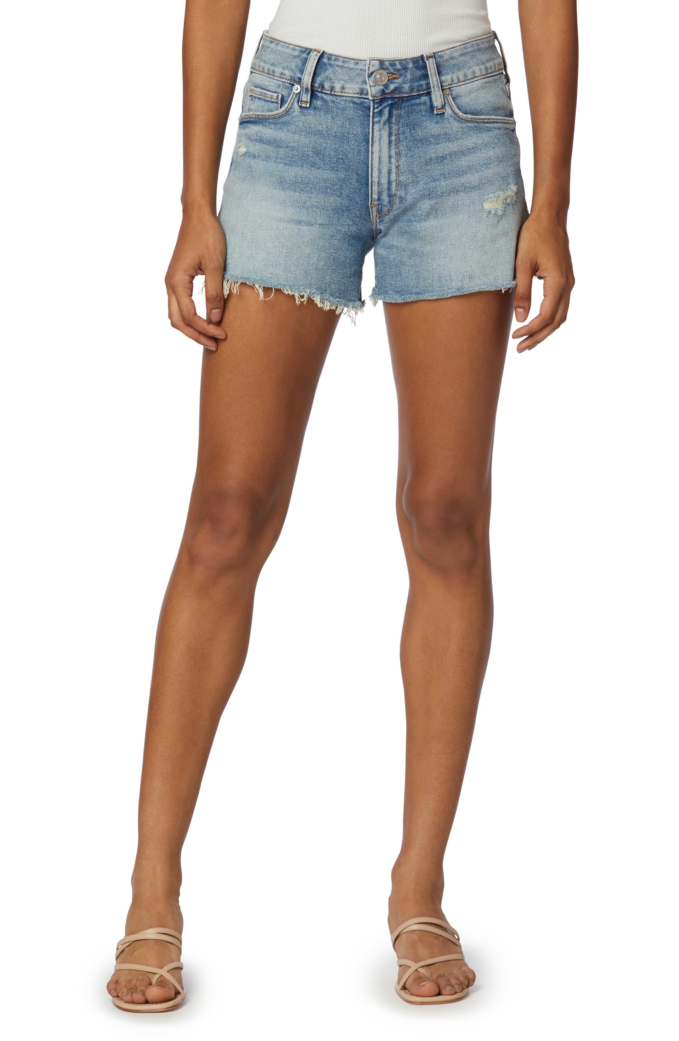 jean shorts with lace Noir brand