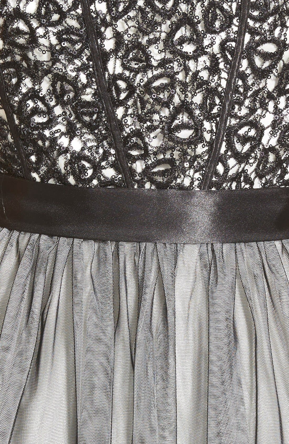 Alternate Image 3  - Steppin Out Sequin Lace Strapless Skater Dress (Juniors)