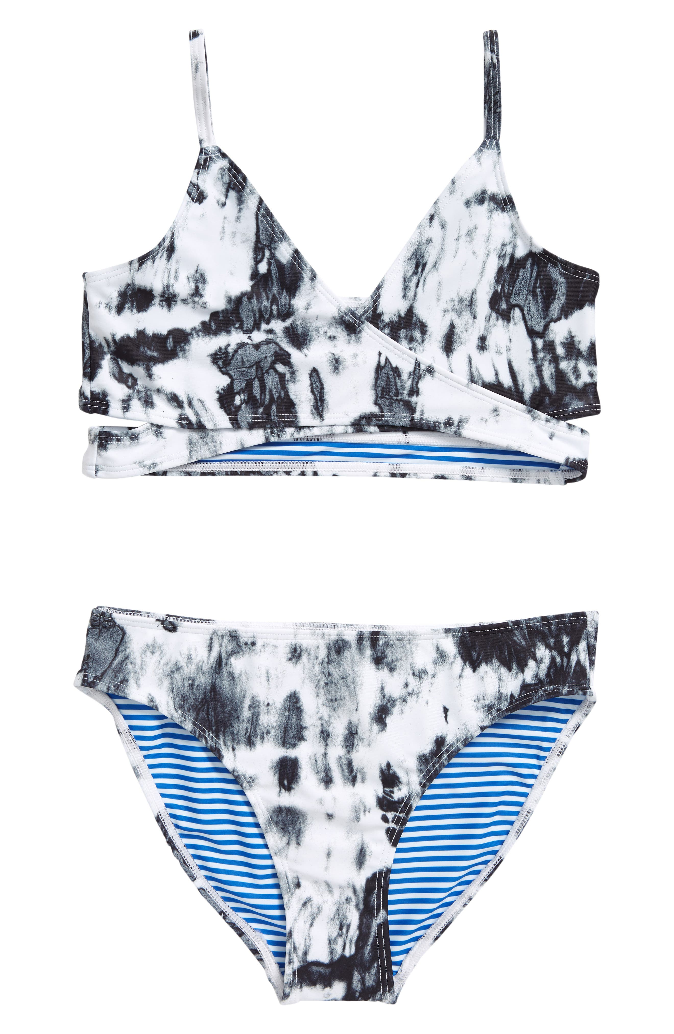 Coral blue two-piece girl swimsuit Last Size 5 Years