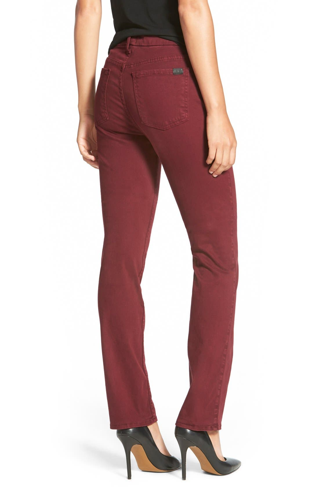 Alternate Image 2  - Jen7 Stretch Sateen Slim Straight Leg Pants