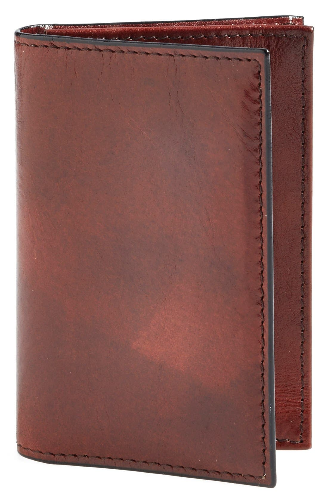 'Old Leather' Gusset Wallet,                             Main thumbnail 1, color,                             Dark Brown