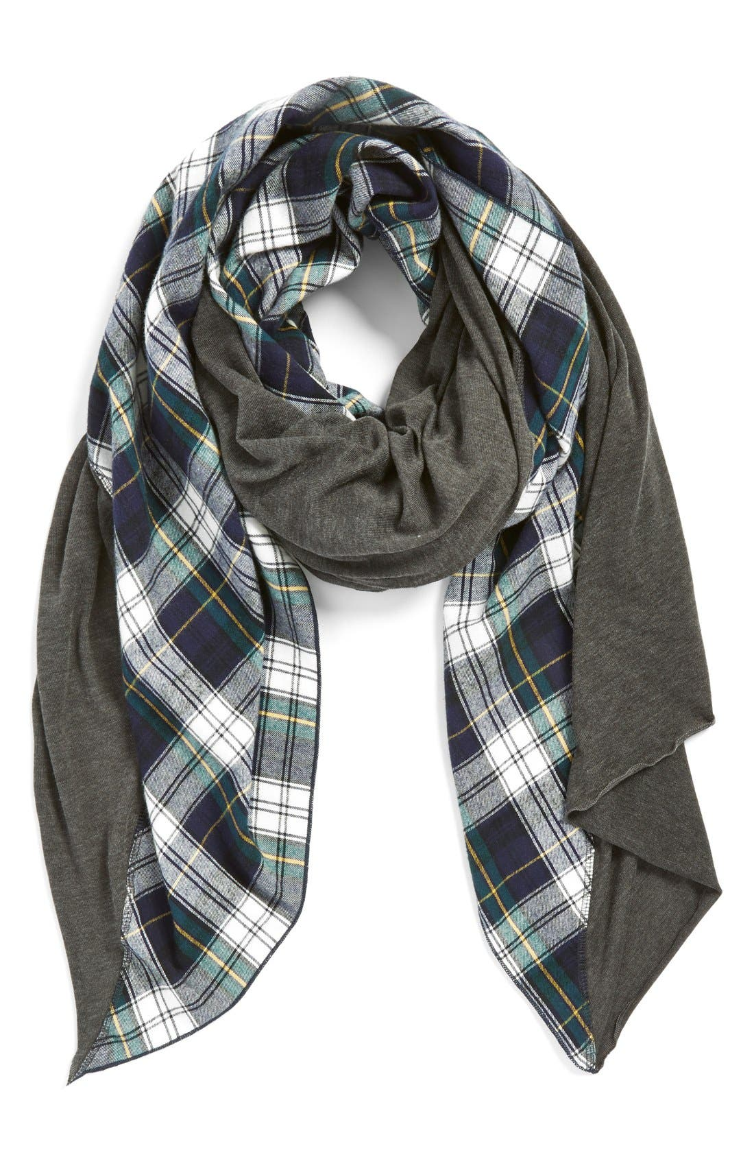Alternate Image 1 Selected - Donni Charm 'Tartan Diagonal' Blanket Scarf