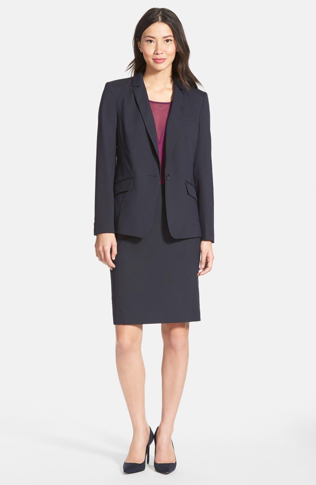 Alternate Image 6  - Halogen® Lapis Pattern Suit Jacket (Regular & Petite)