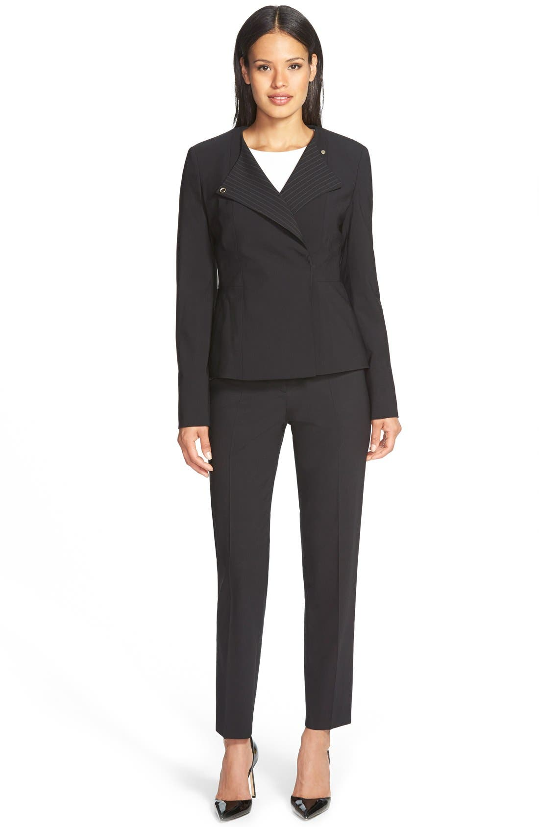 Alternate Image 4  - BOSS 'Tiluna' Stretch Wool Slim Leg Ankle Trousers