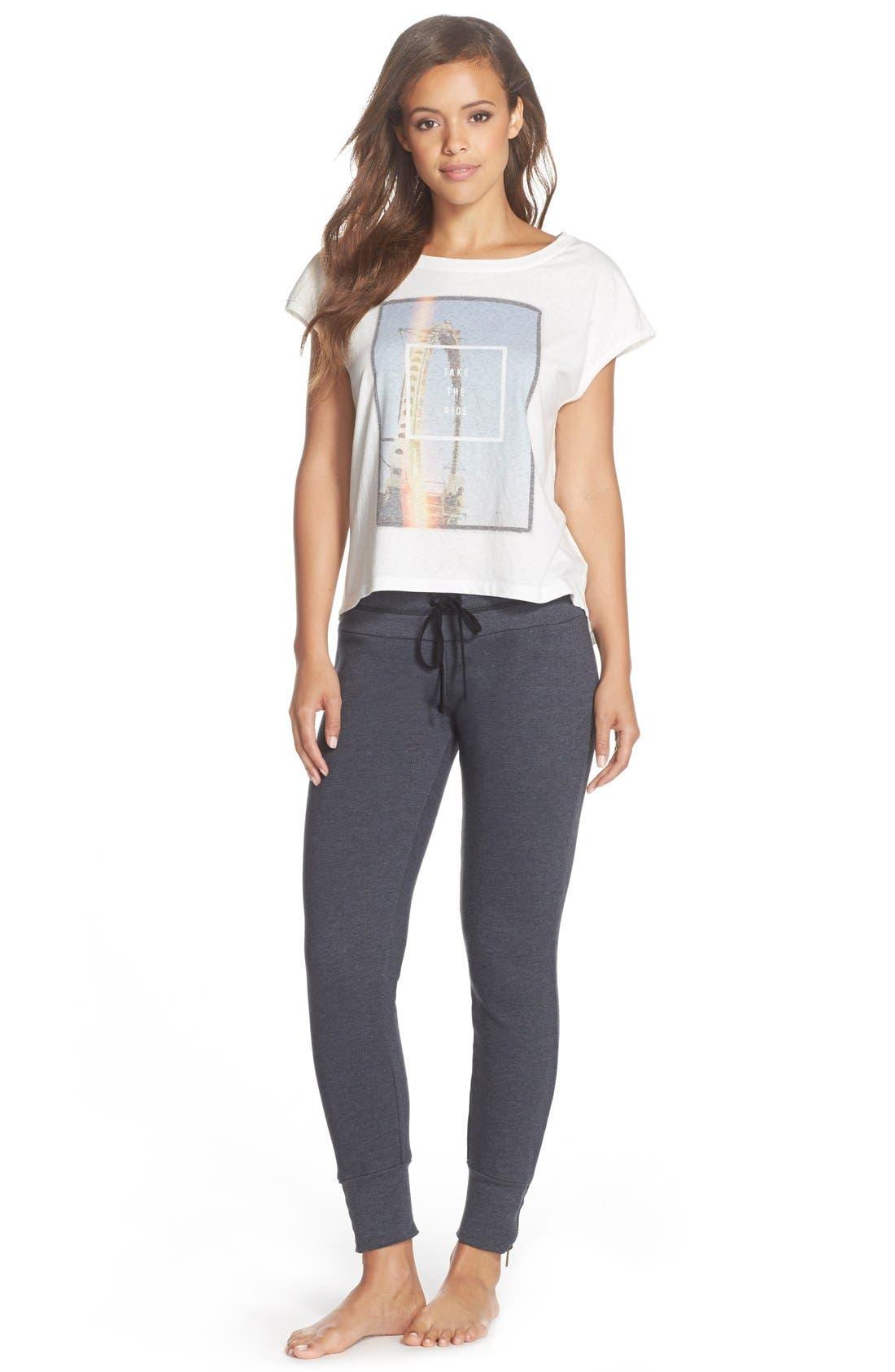 Alternate Image 3  - 35mm Clothing 'Molly' Zip Hem Jogger Pants