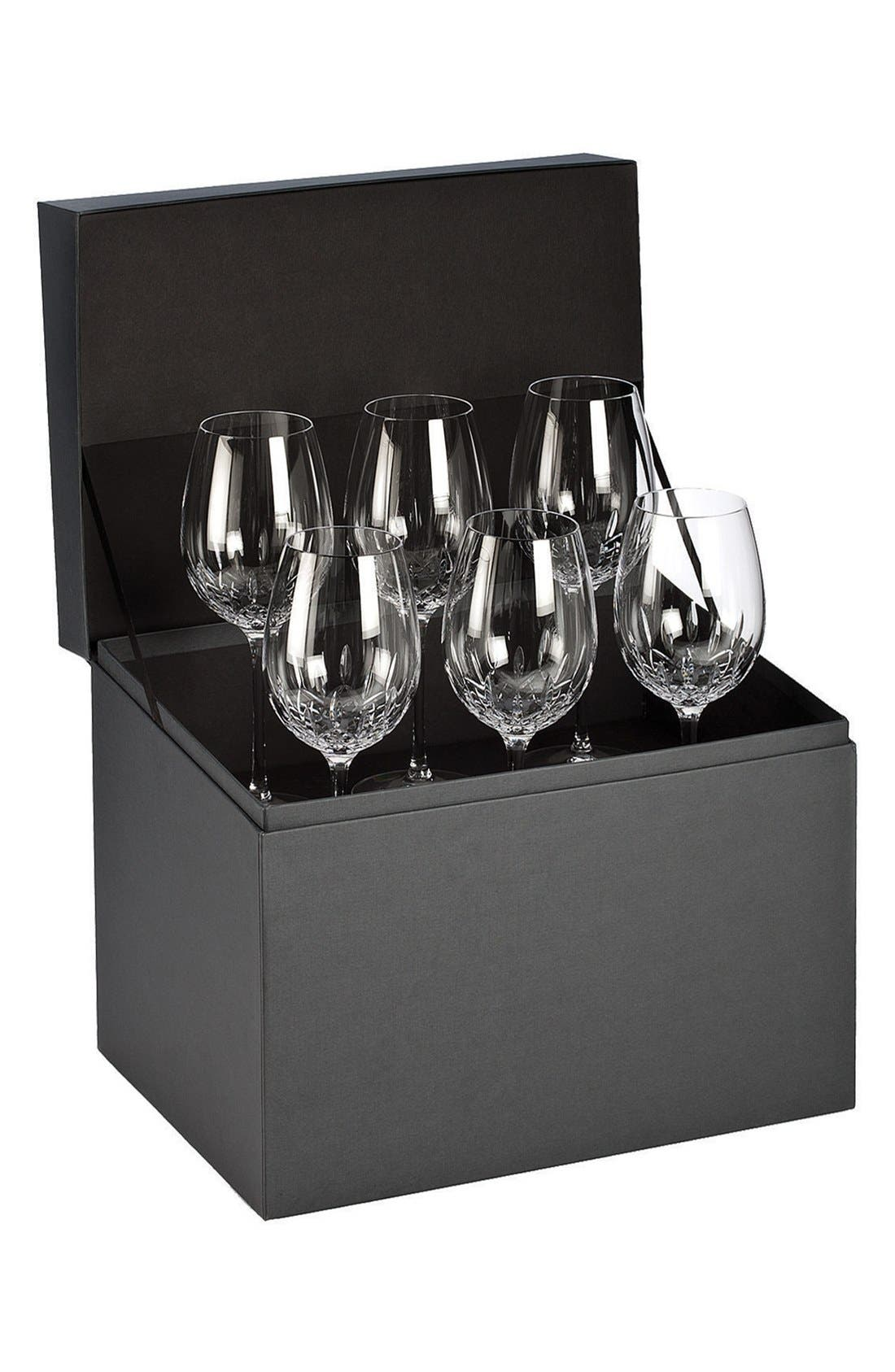 'Lismore Essence' Lead Crystal Goblets,                             Main thumbnail 1, color,                             Clear