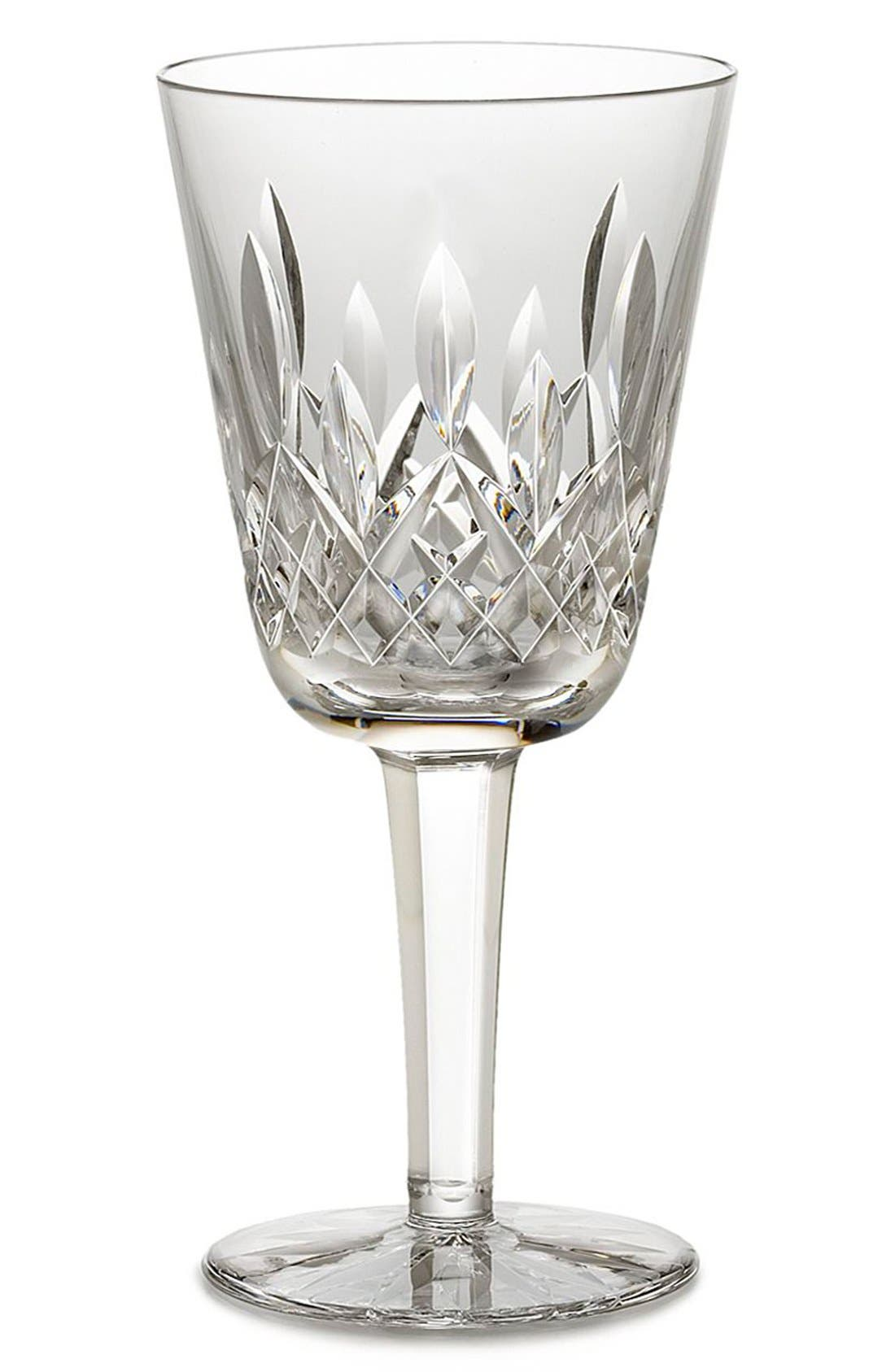 'Lismore' Lead Crystal White Wine Glass,                         Main,                         color, Clear