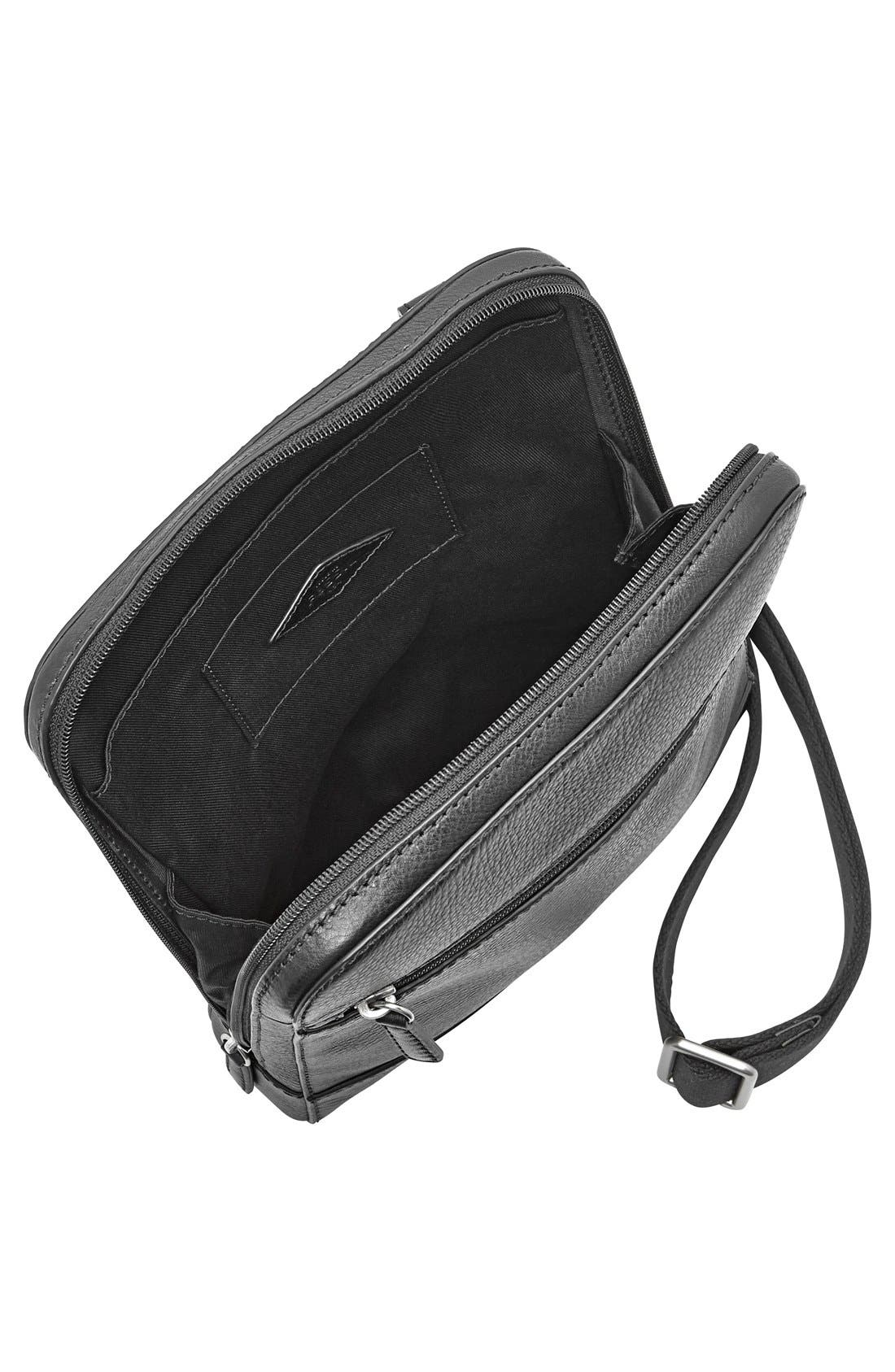 'Rory' Leather Crossbody Bag,                             Alternate thumbnail 2, color,                             Black