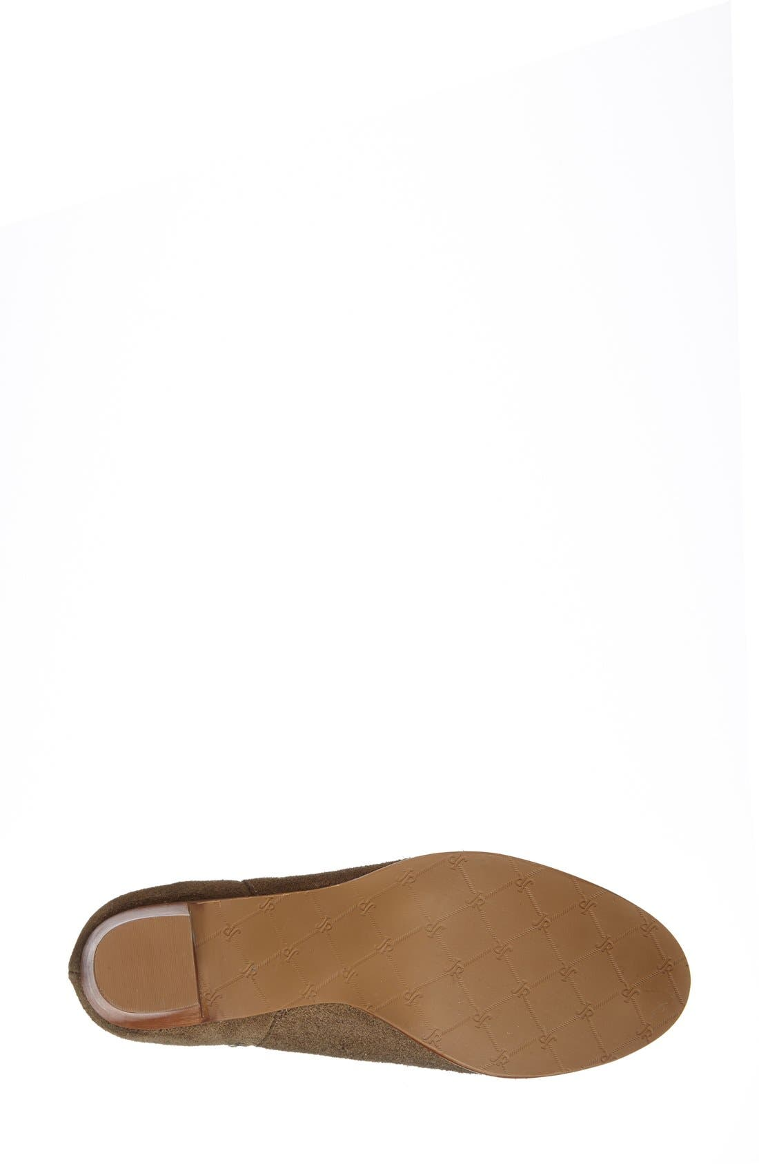 'Marianne' Bootie,                             Alternate thumbnail 4, color,                             Olive Suede