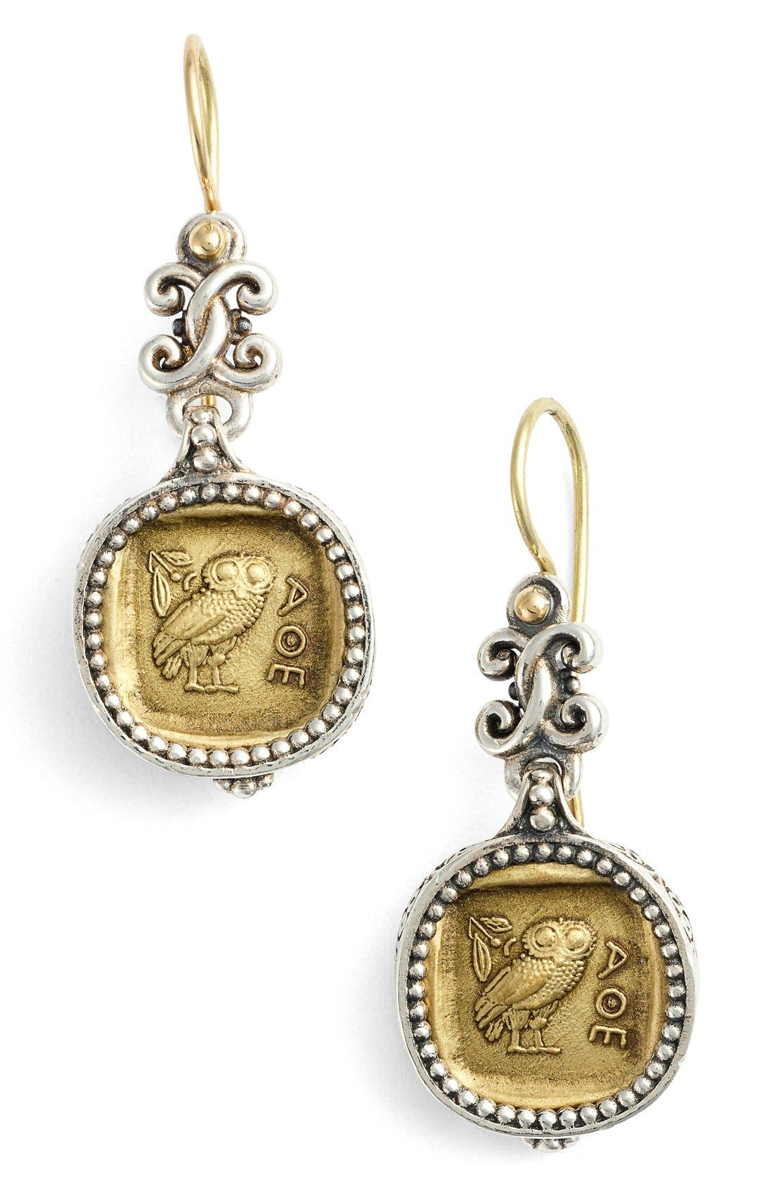 KONSTANTINO Athena Owl Drop Earrings