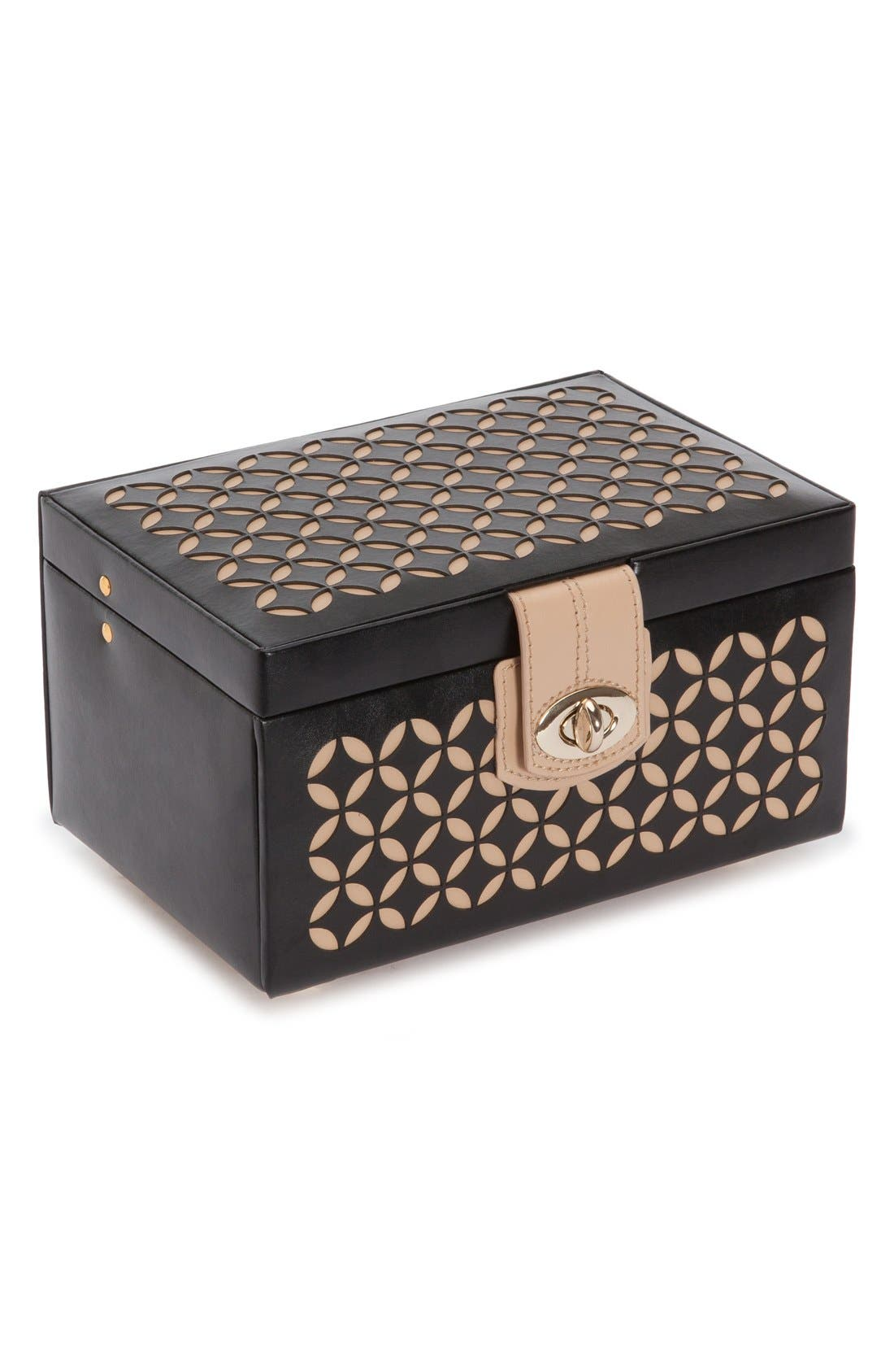 'Chloe' Jewelry Box,                             Alternate thumbnail 7, color,                             Black