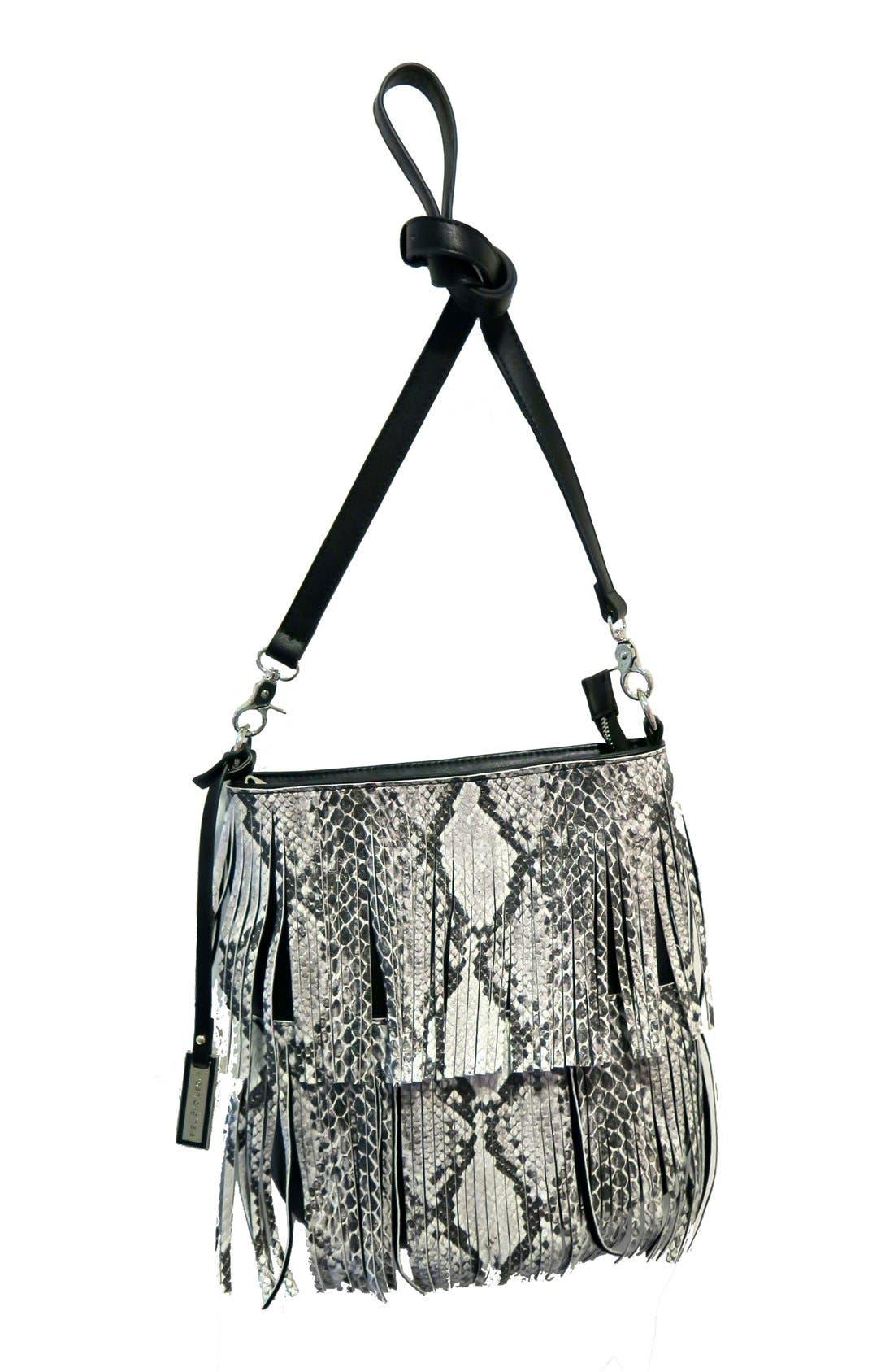 URBAN ORIGINALS Burning Up Fringe Convertible Vegan Leather Crossbody Bag