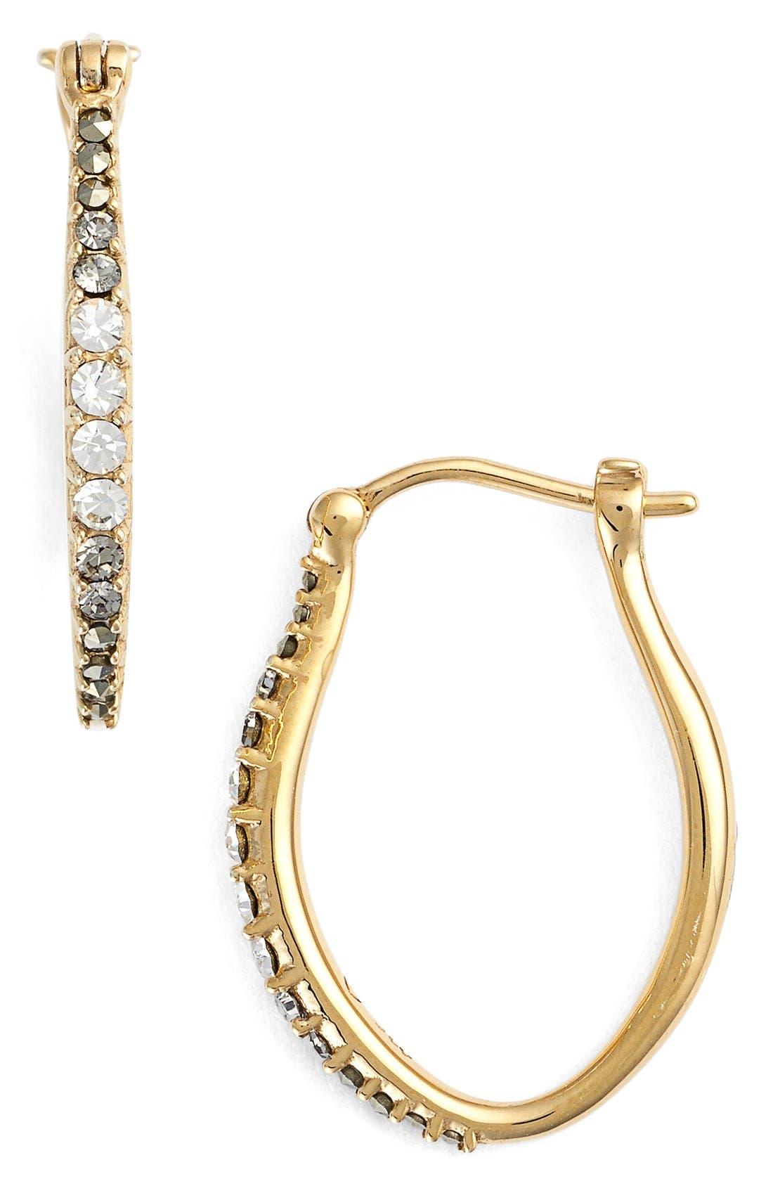 Judith Jack Marcasite & Swarovski Crystal Hoop Earrings