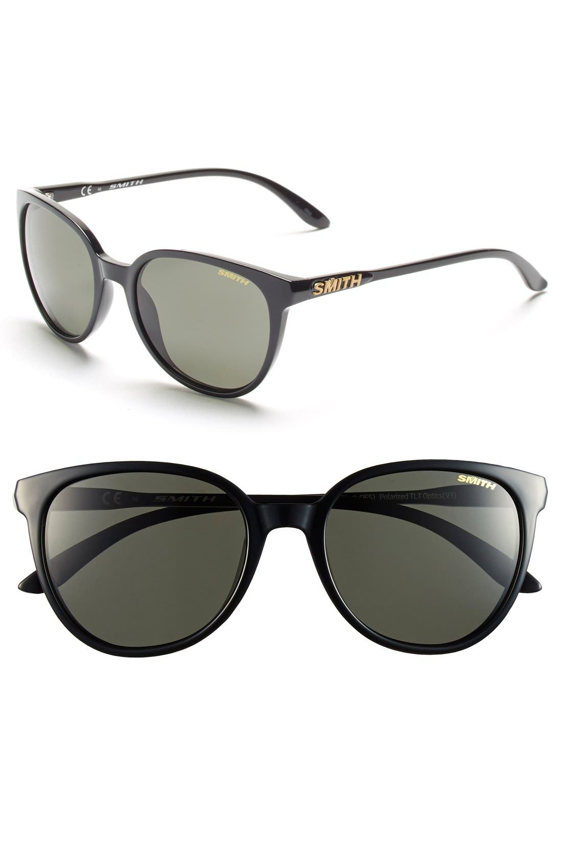 'Cheetah' 53mm Sunglasses,                         Main,                         color, Black/ Polar Grey/ Green