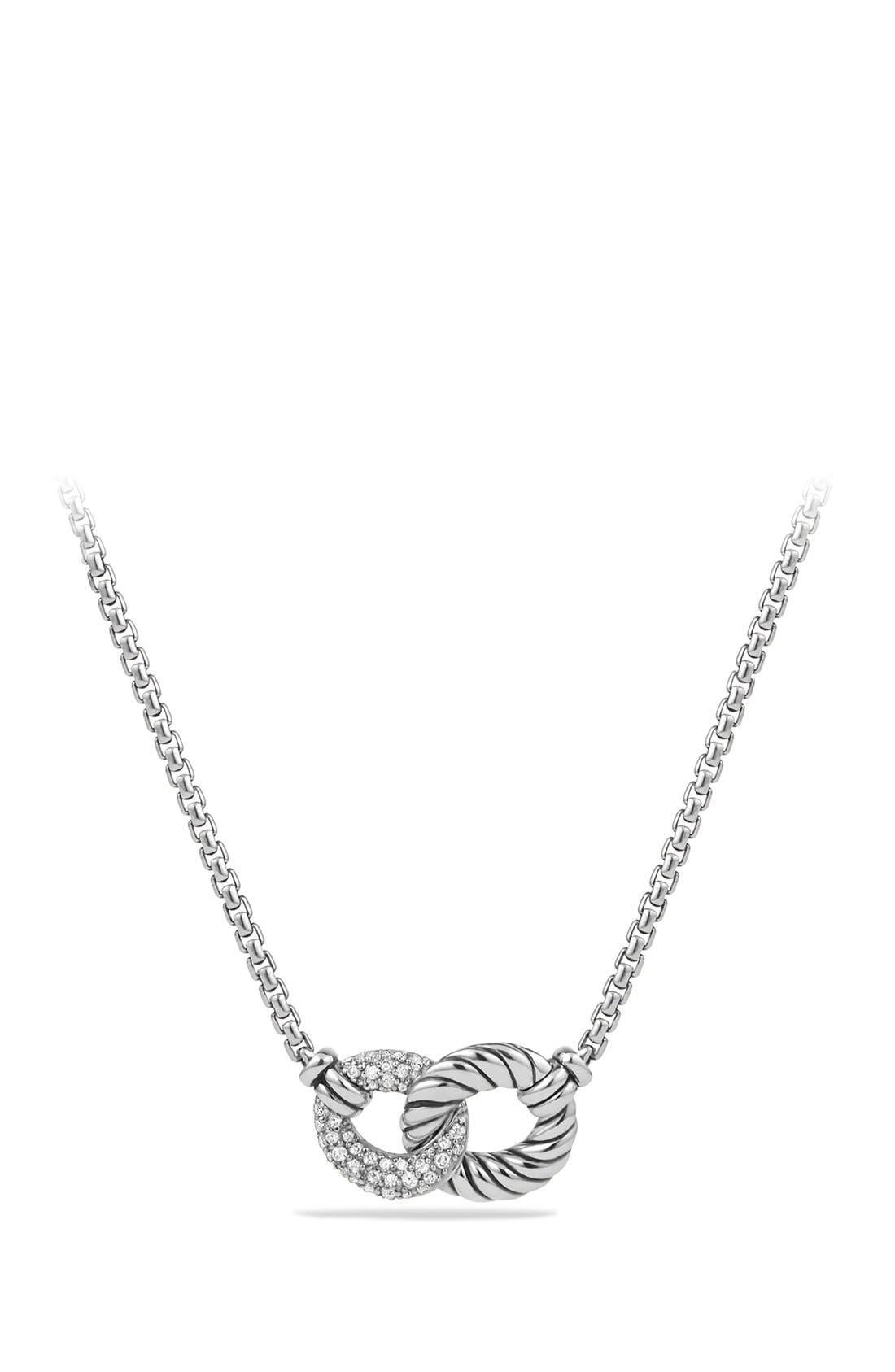 david yurman necklace with diamonds