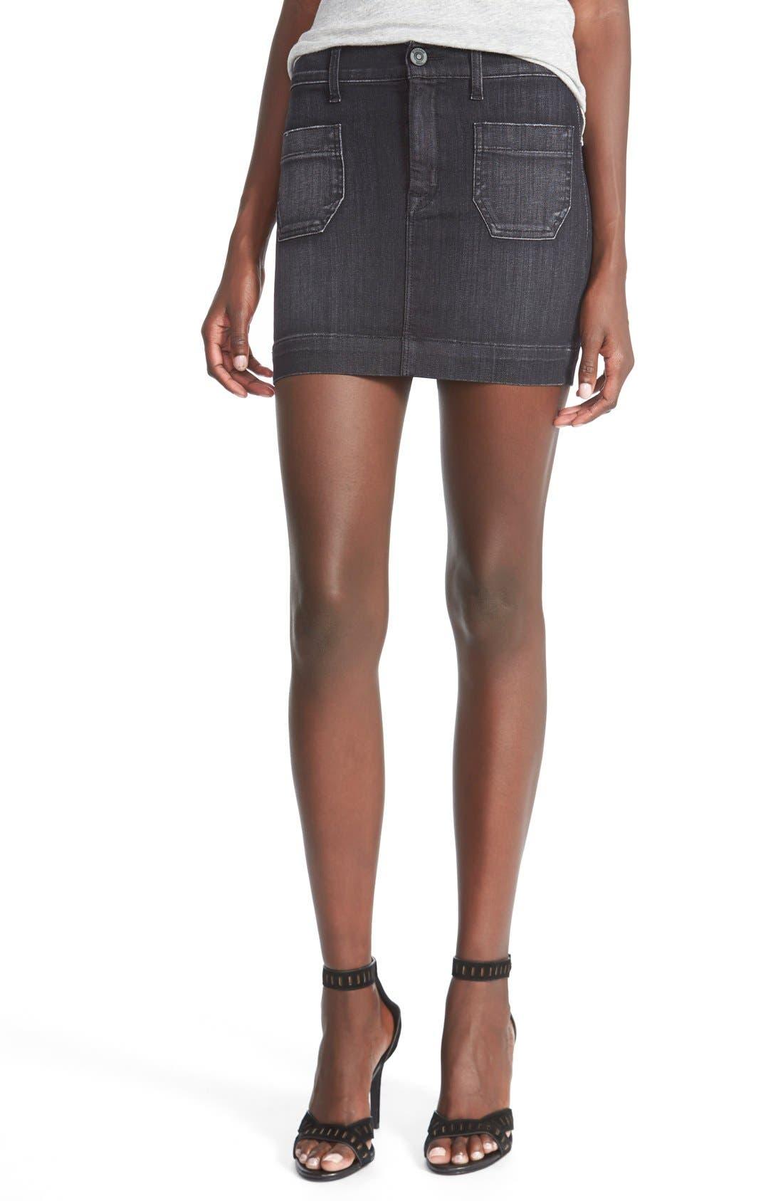 Alternate Image 1 Selected - Hudson Jeans'Rose'High Waist Skirt