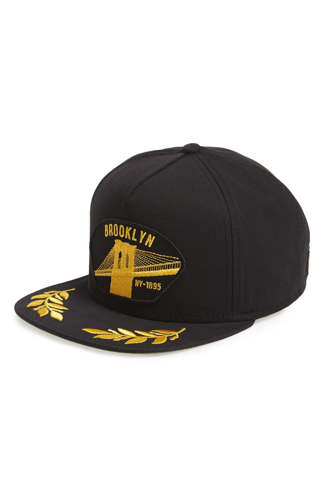 'Brooklyn Steel' Snapback Cap,                         Main,                         color, Black