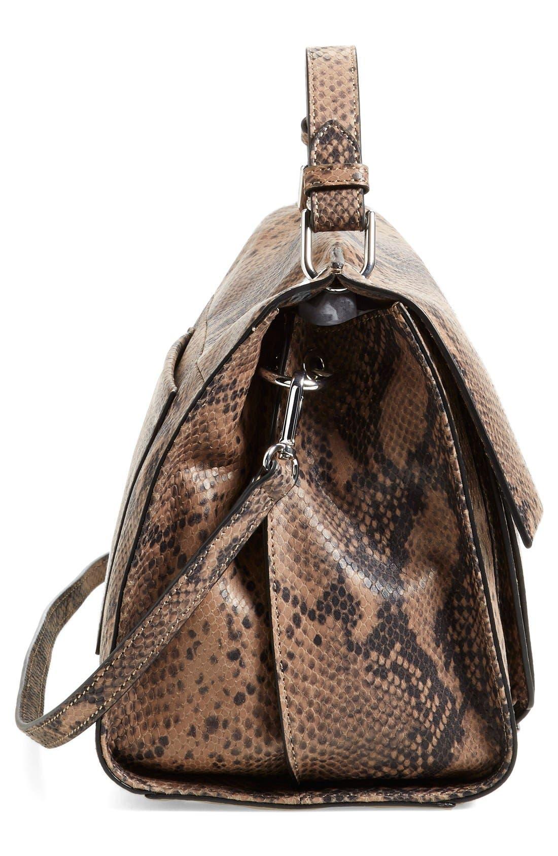 Alternate Image 5  - IvankaTrump 'Turnberry' Snake Embossed Leather Satchel