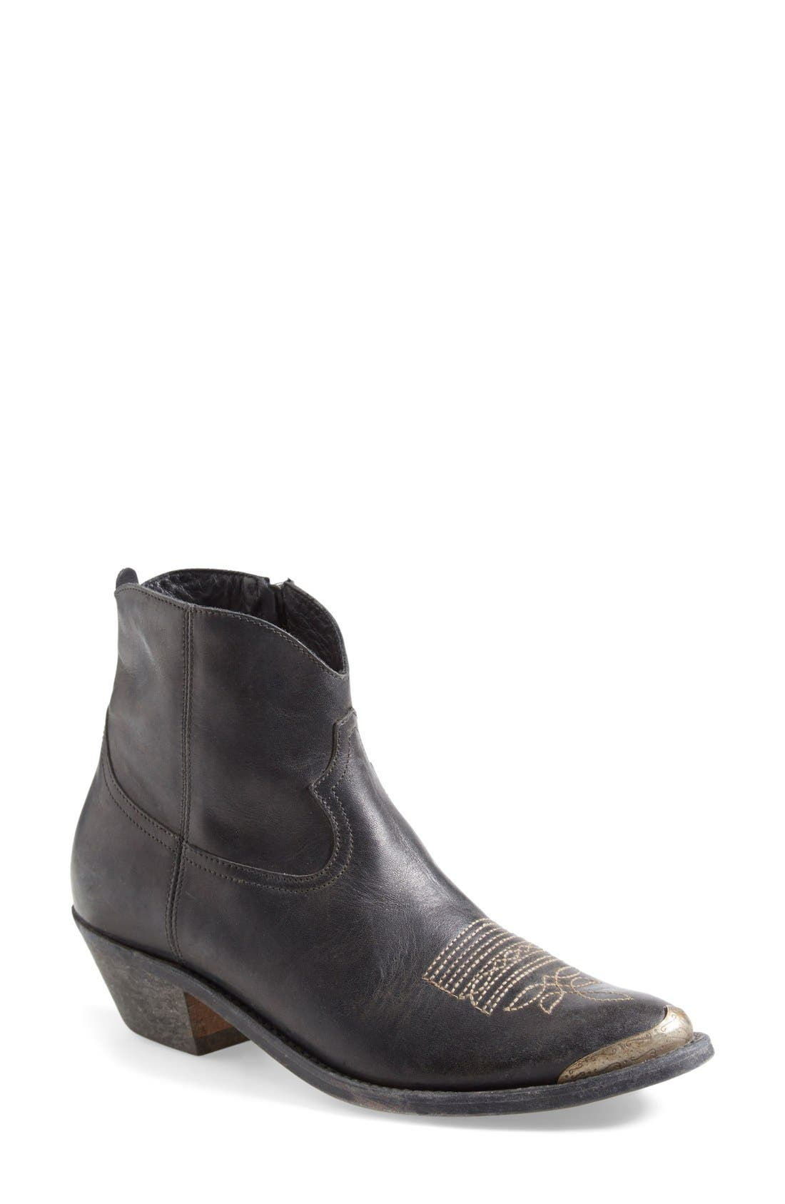 Alternate Image 1 Selected - Golden Goose Pointy Toe Western Boot (Women)