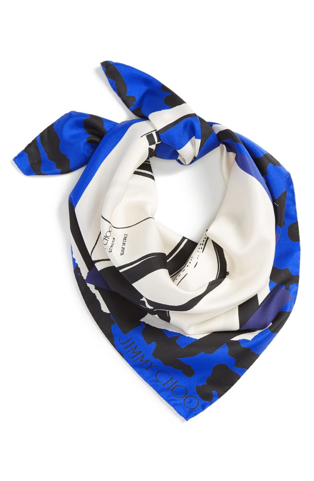 Main Image - Jimmy Choo Shoe Print Silk Scarf