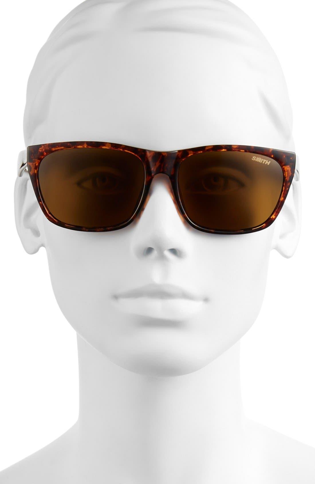 'Tioga' 57mm Polarized Sunglasses,                             Alternate thumbnail 2, color,                             Vintage Havana/ Polar Brown