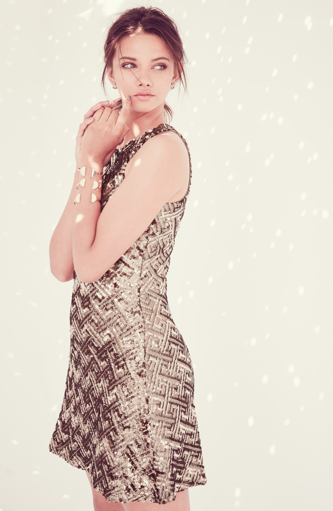 Alternate Image 8  - Dress the Population 'Mia' Sequin Cutaway Fit & Flare Dress