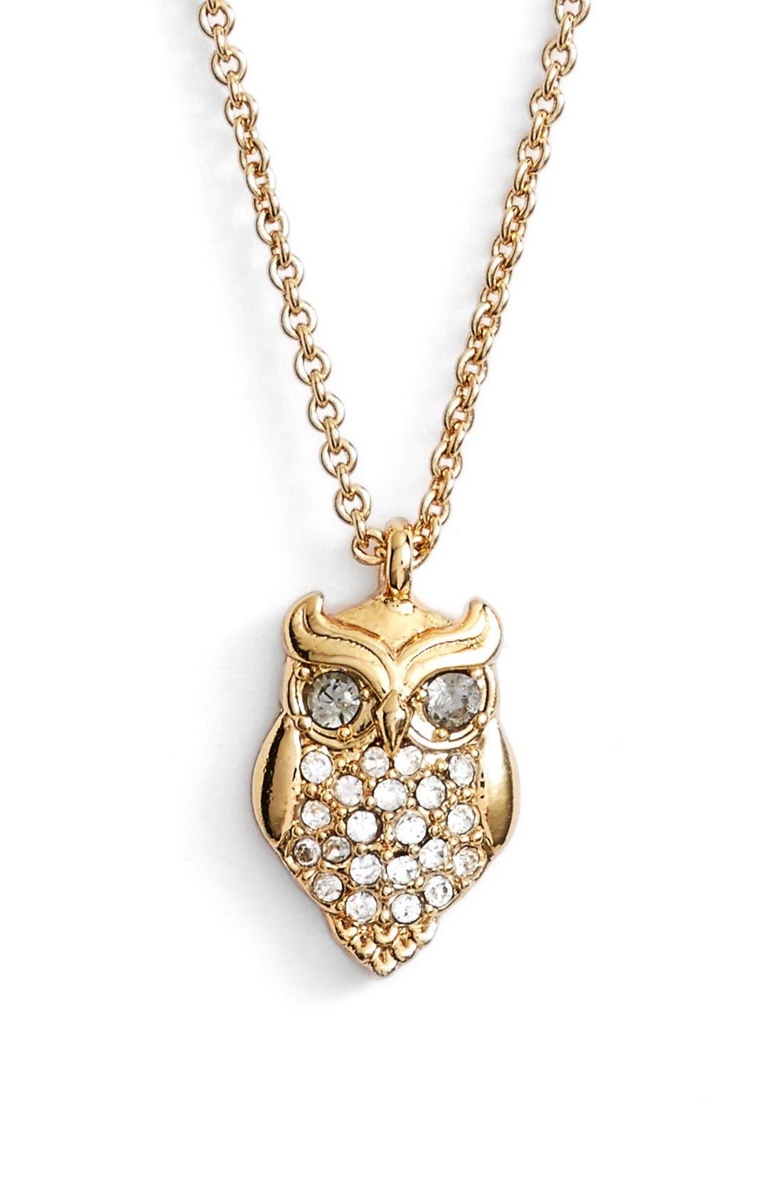 Alternate Image 1 Selected - katespade new yorkowl pendant necklace