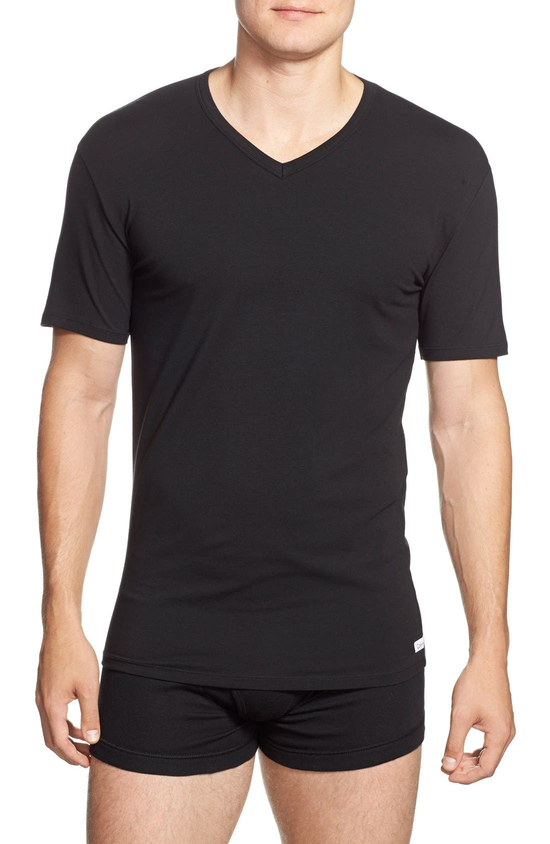 Alternate Image 1 Selected - Calvin Klein 2-Pack Stretch Cotton T-Shirt