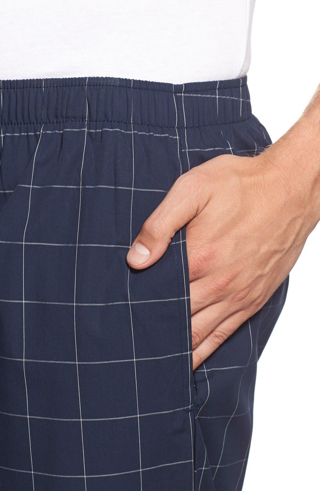 Cotton Pajama Pants,                             Alternate thumbnail 4, color,                             Cruise Navy