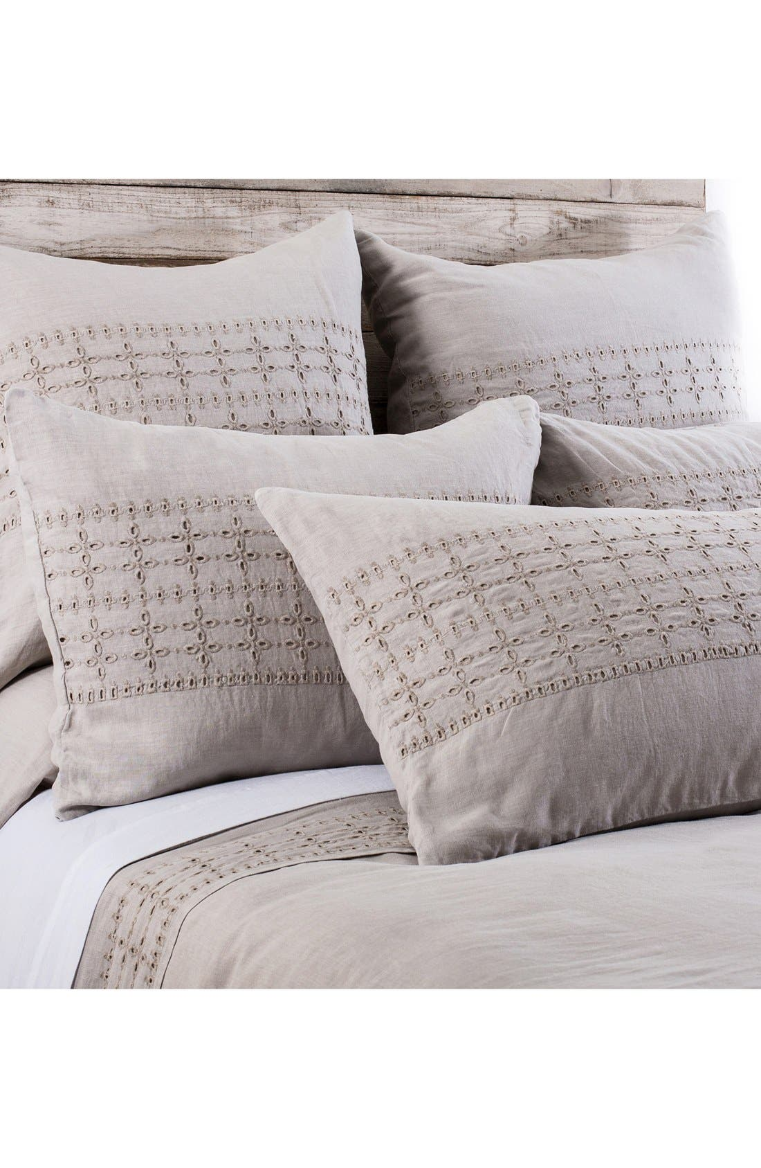 'Layla' Linen Duvet Cover,                         Main,                         color, Taupe