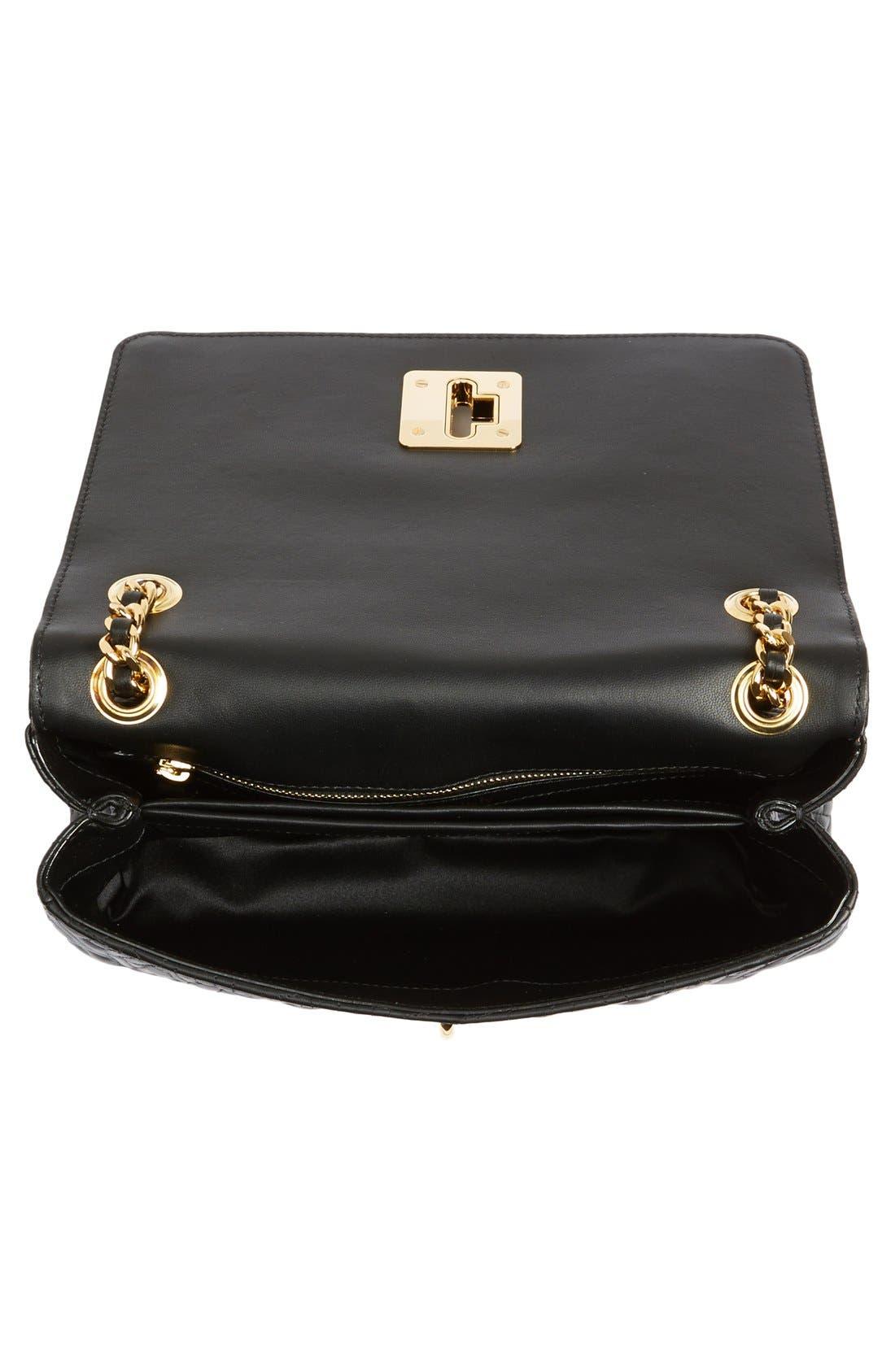 Alternate Image 4  - Moschino Logo Embossed Leather Crossbody Bag