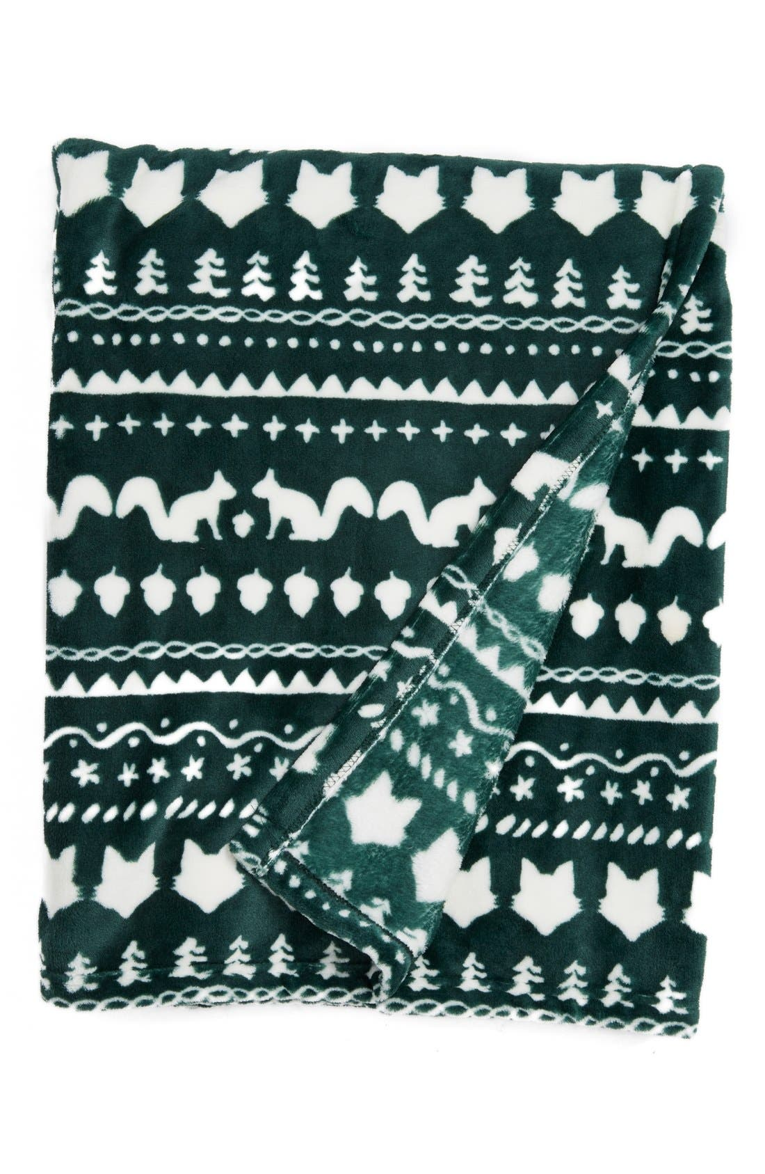 Nordstrom at Home Fair Isle Plush Fleece Throw Blanket | Nordstrom