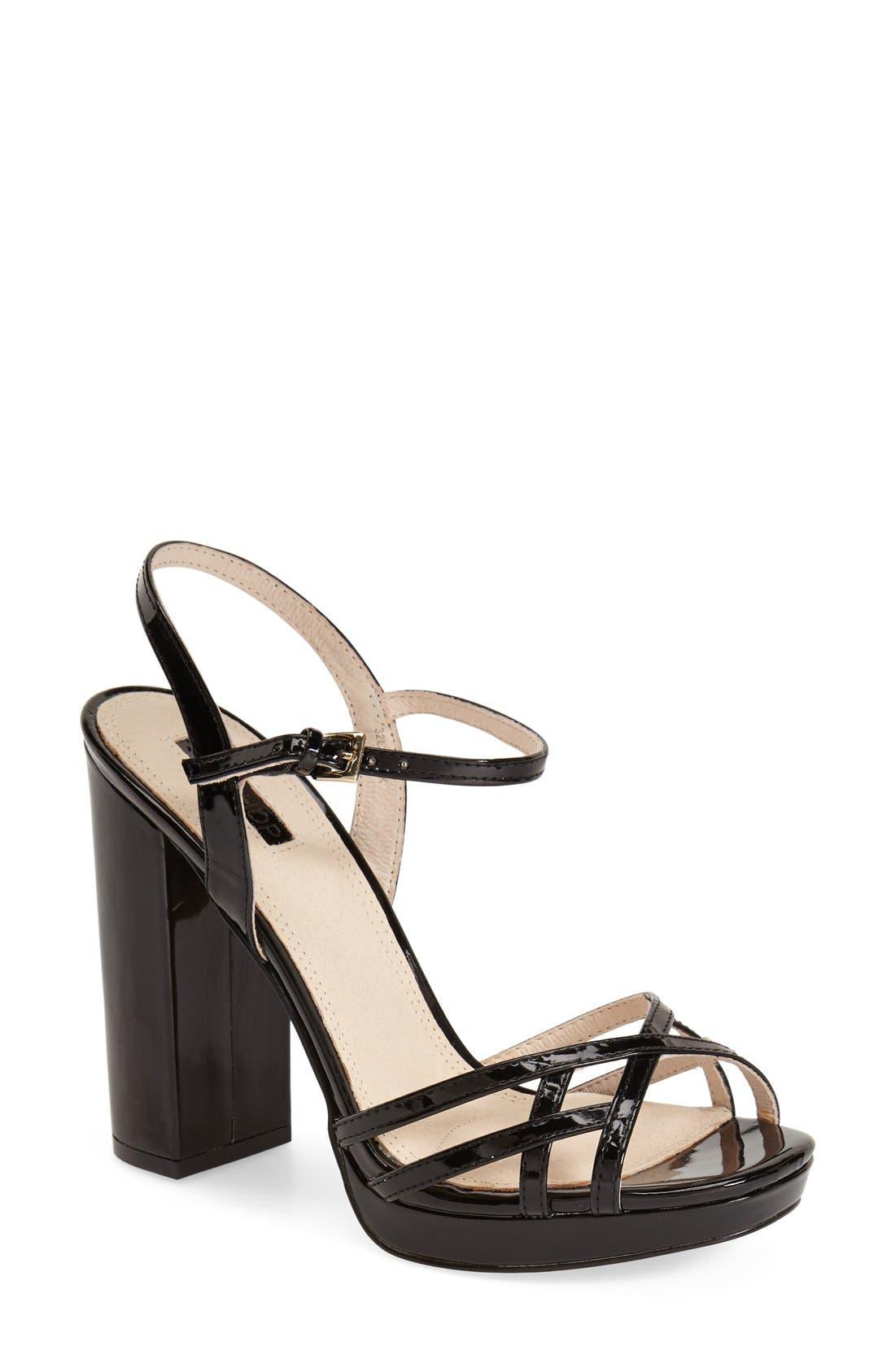 Main Image - Topshop 'Lola' Ankle Strap Platform Sandal (Women)