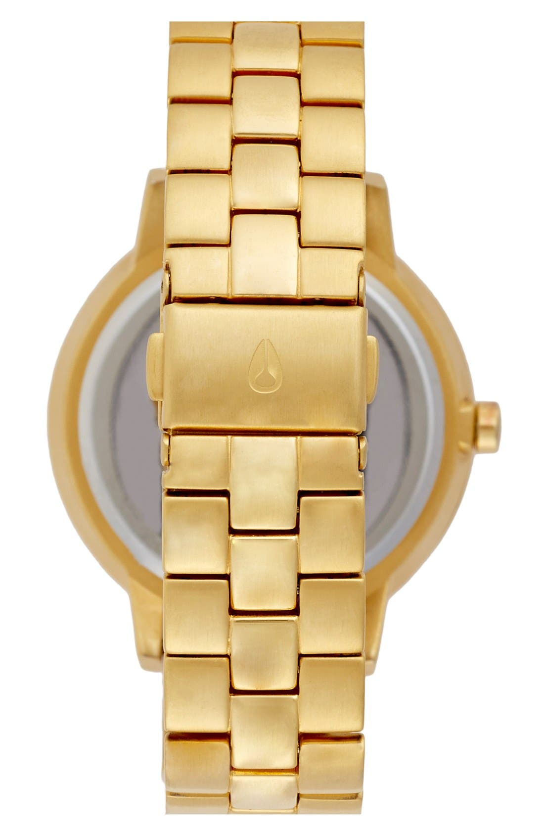 'The Kensington' Round Bracelet Watch, 37mm,                             Alternate thumbnail 2, color,                             All Gold