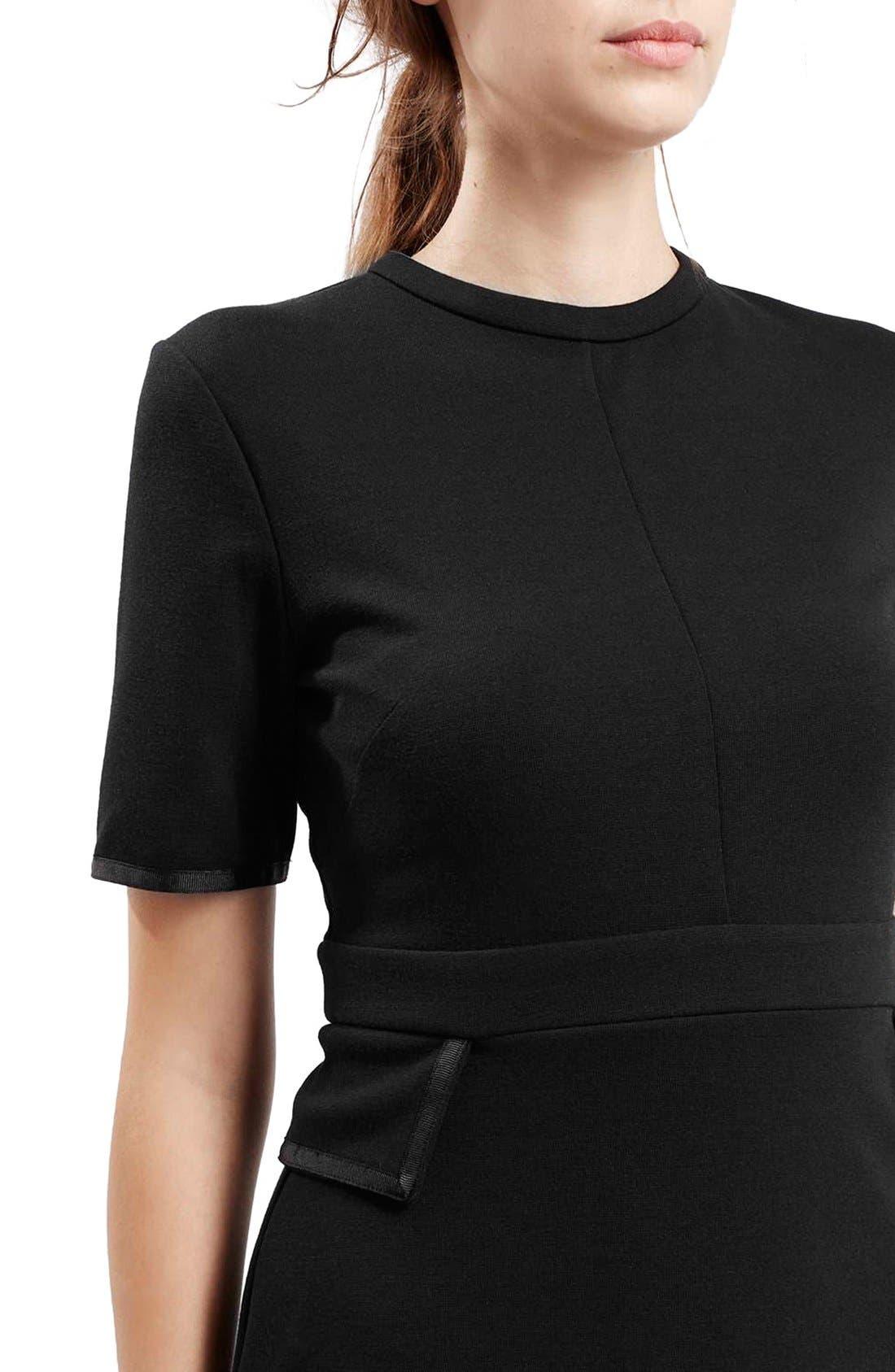 Alternate Image 5  - TopshopHigh Neck A-Line Dress