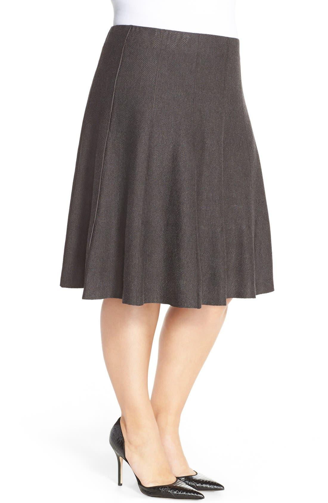 'Twirl Flirt' Paneled Skirt,                             Alternate thumbnail 3, color,                             Mushroom