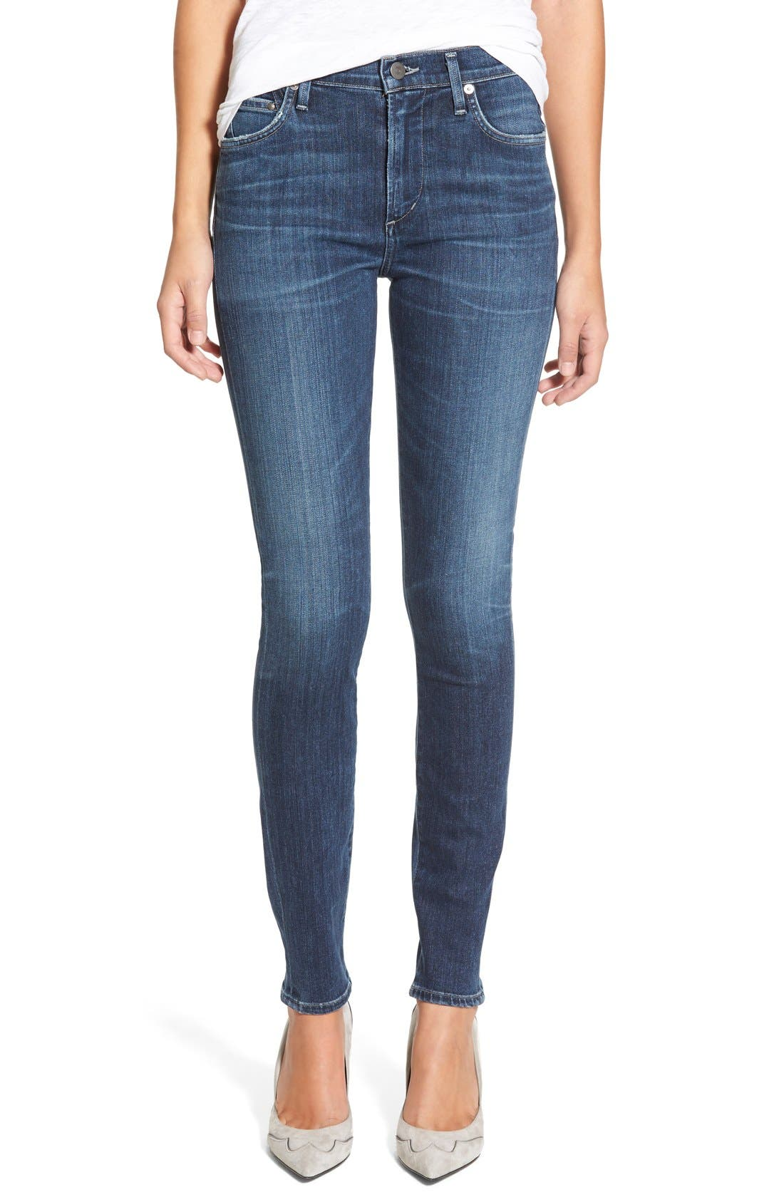 Rocket High Waist Skinny Jeans,                             Main thumbnail 1, color,                             Albion